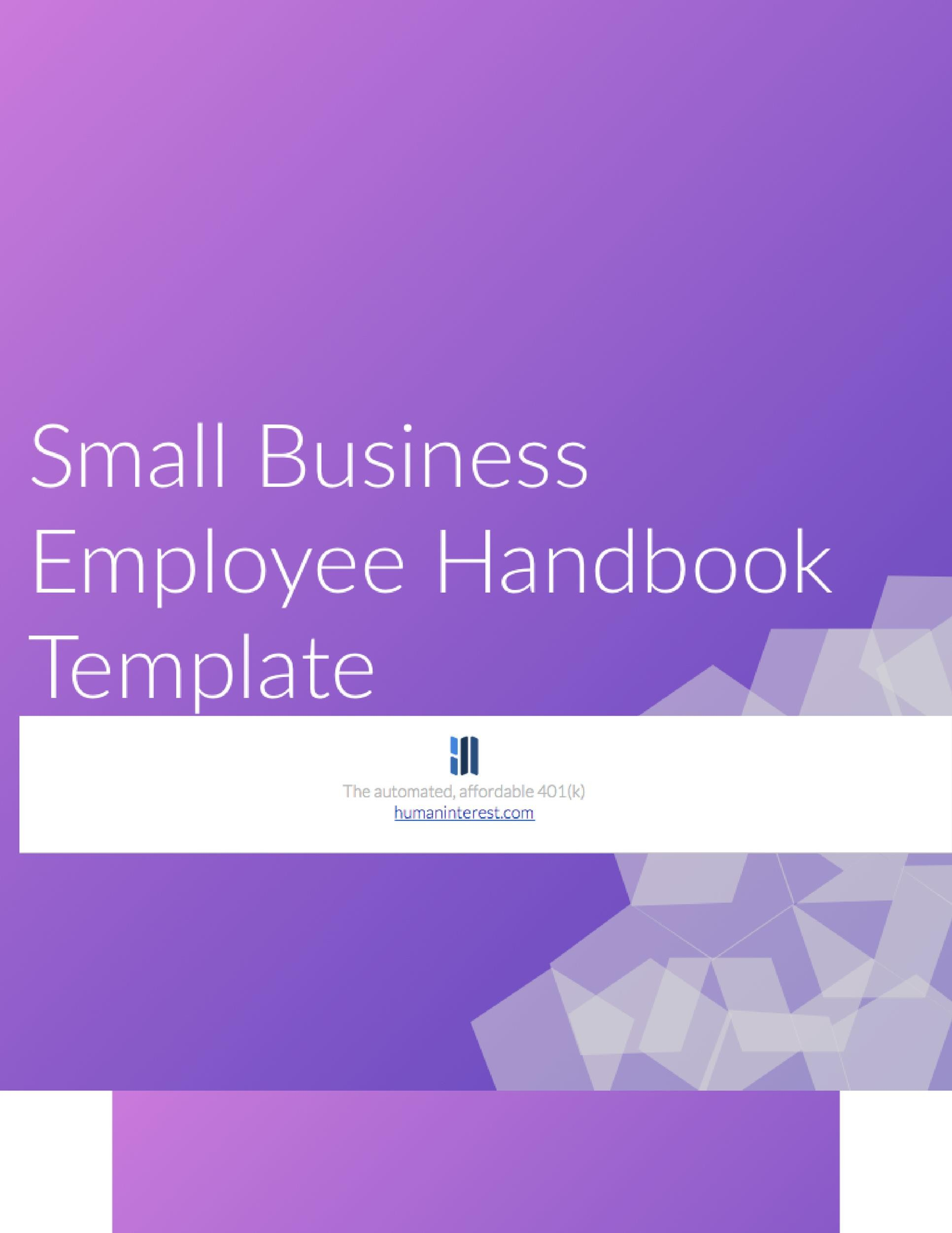Free employee handbook template 10