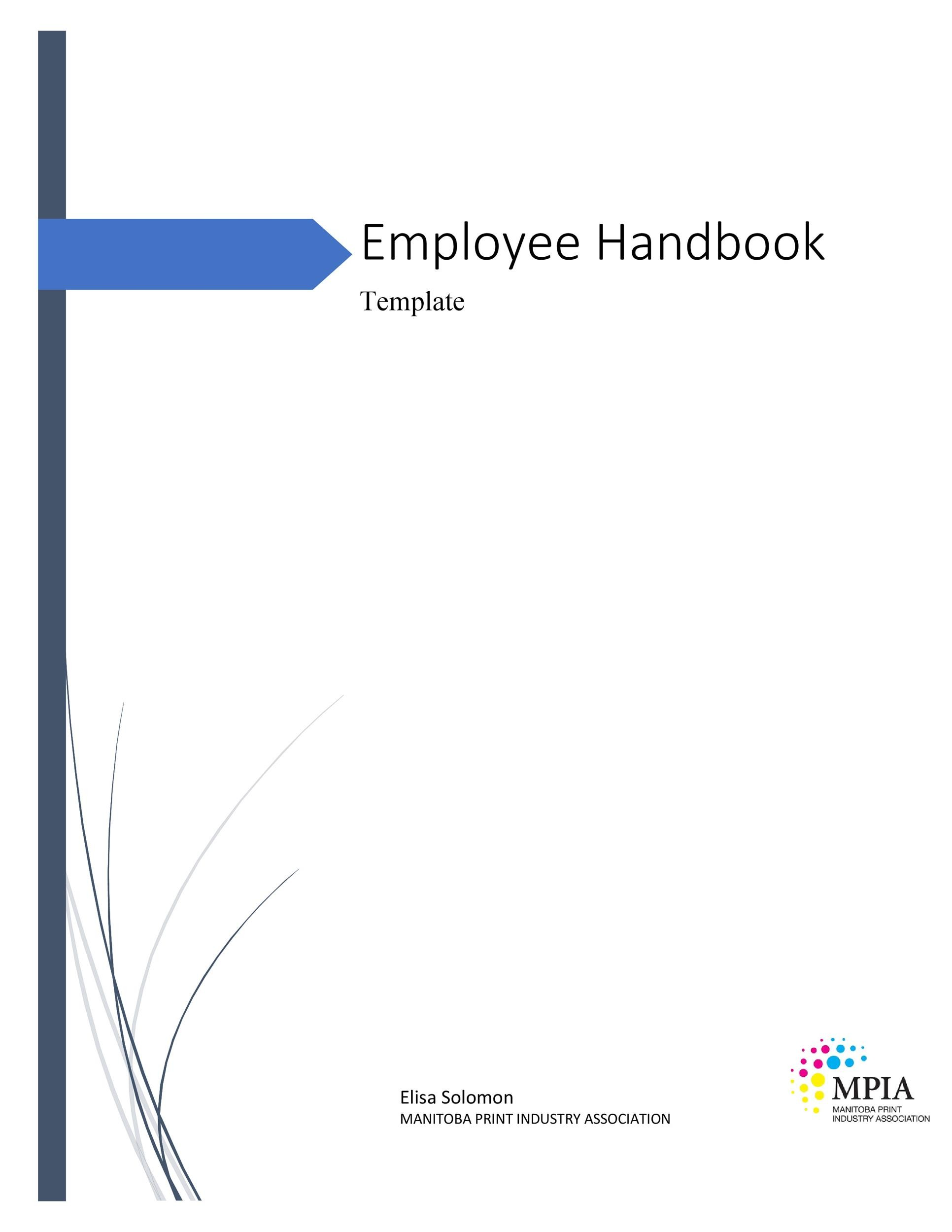 Free employee handbook template 19
