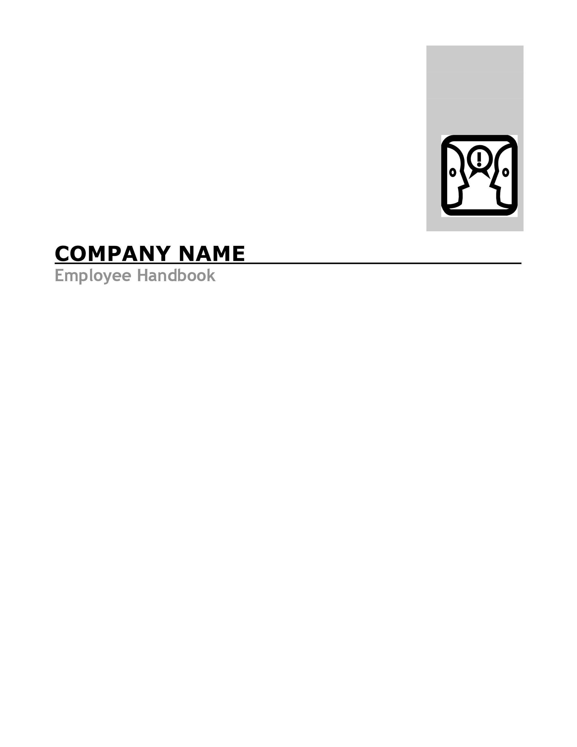Free employee handbook template 28