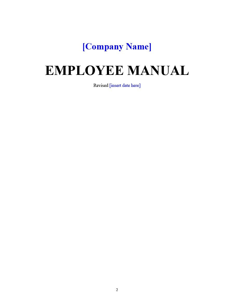 Free employee handbook template 29