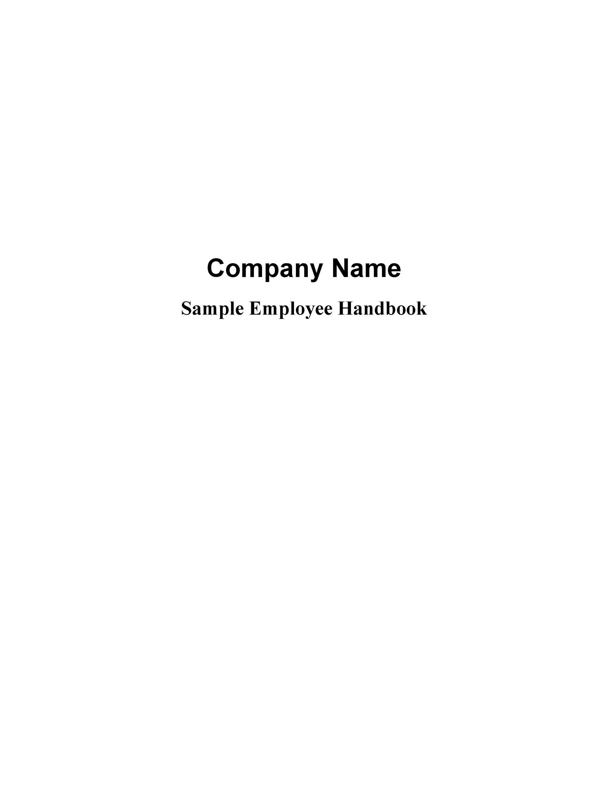 Free employee handbook template 34