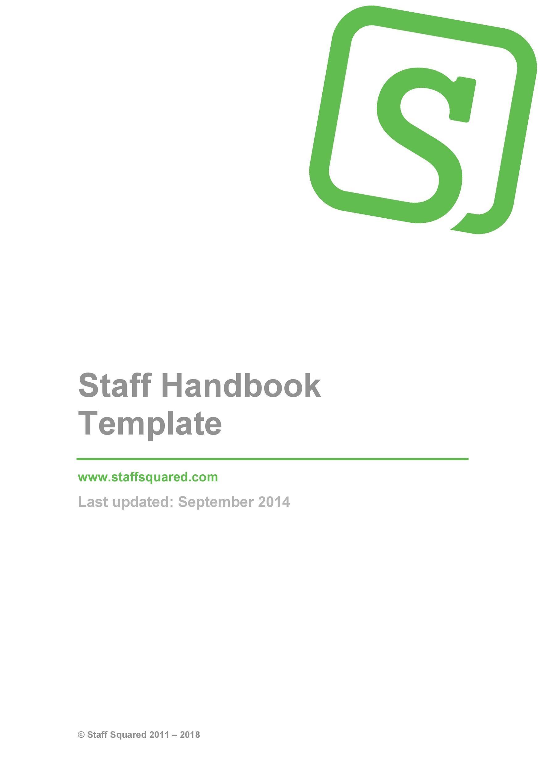Free employee handbook template 36