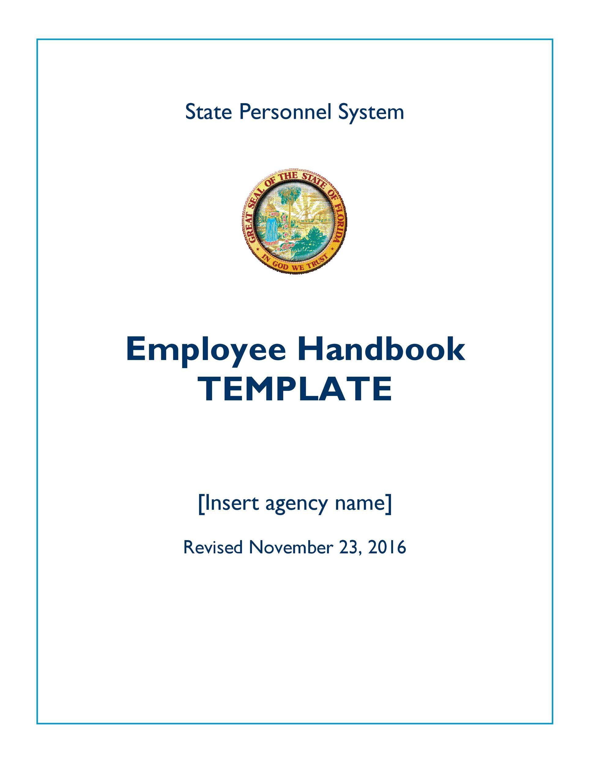 Free employee handbook template 41