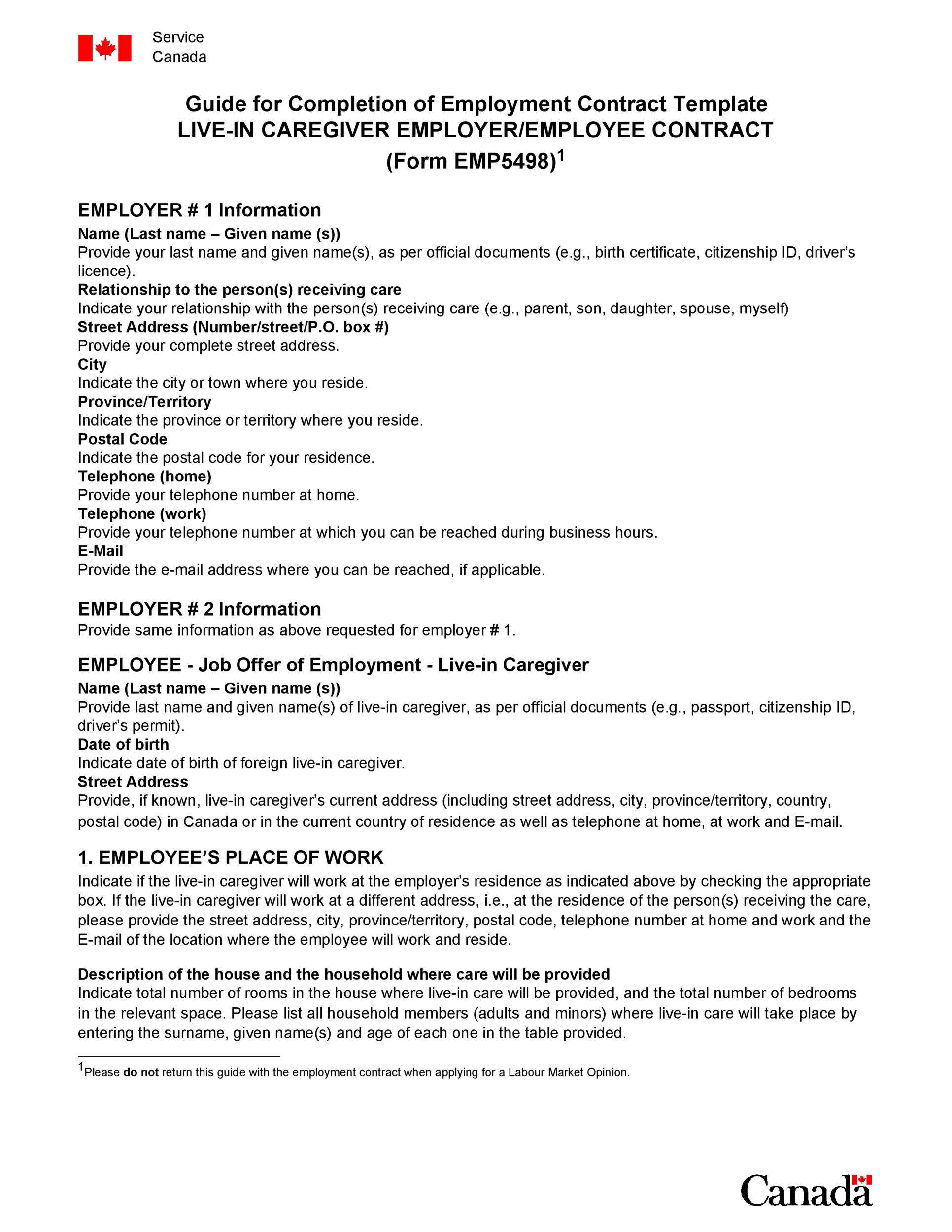 Free employment contract 02