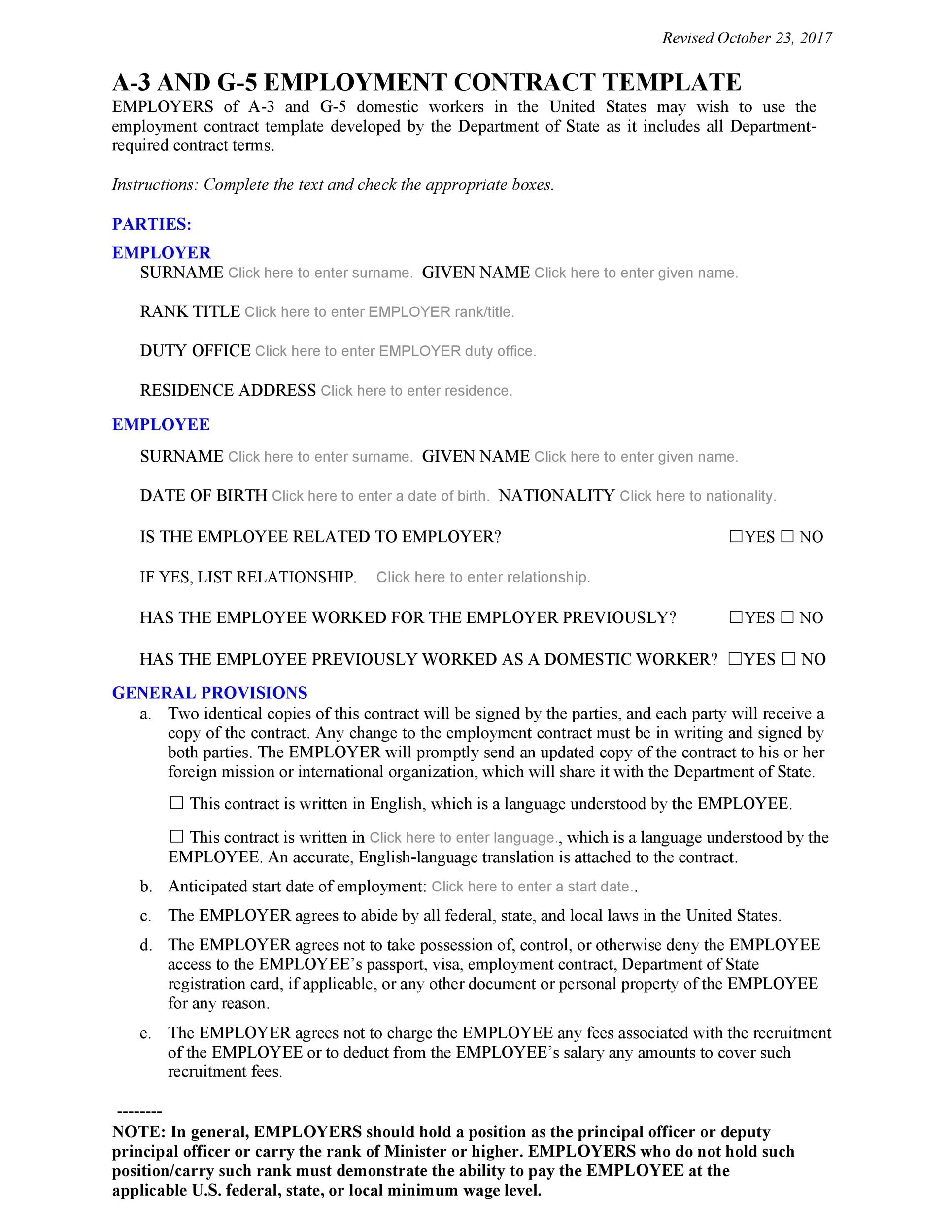 Free employment contract 04