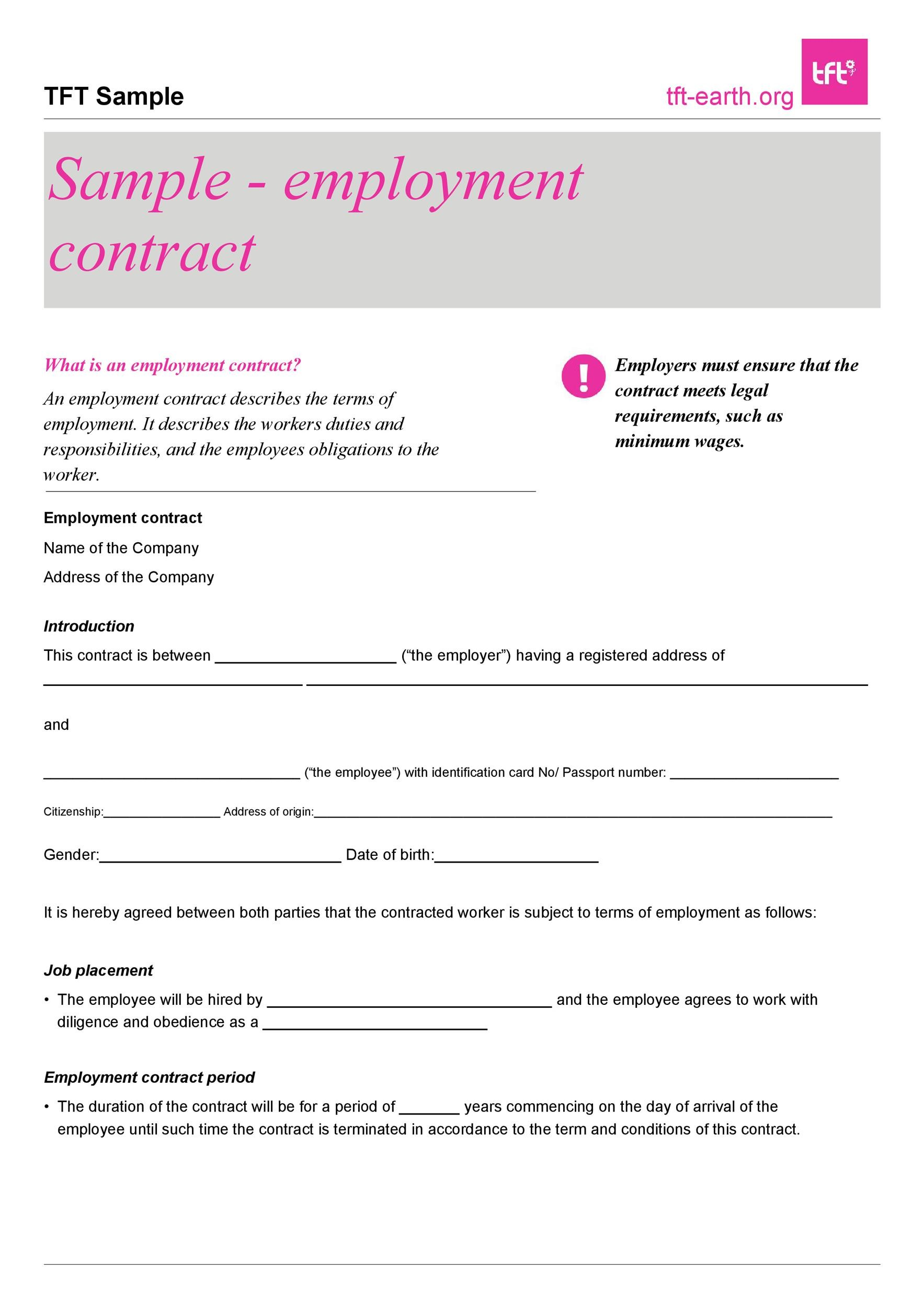 Free employment contract 08