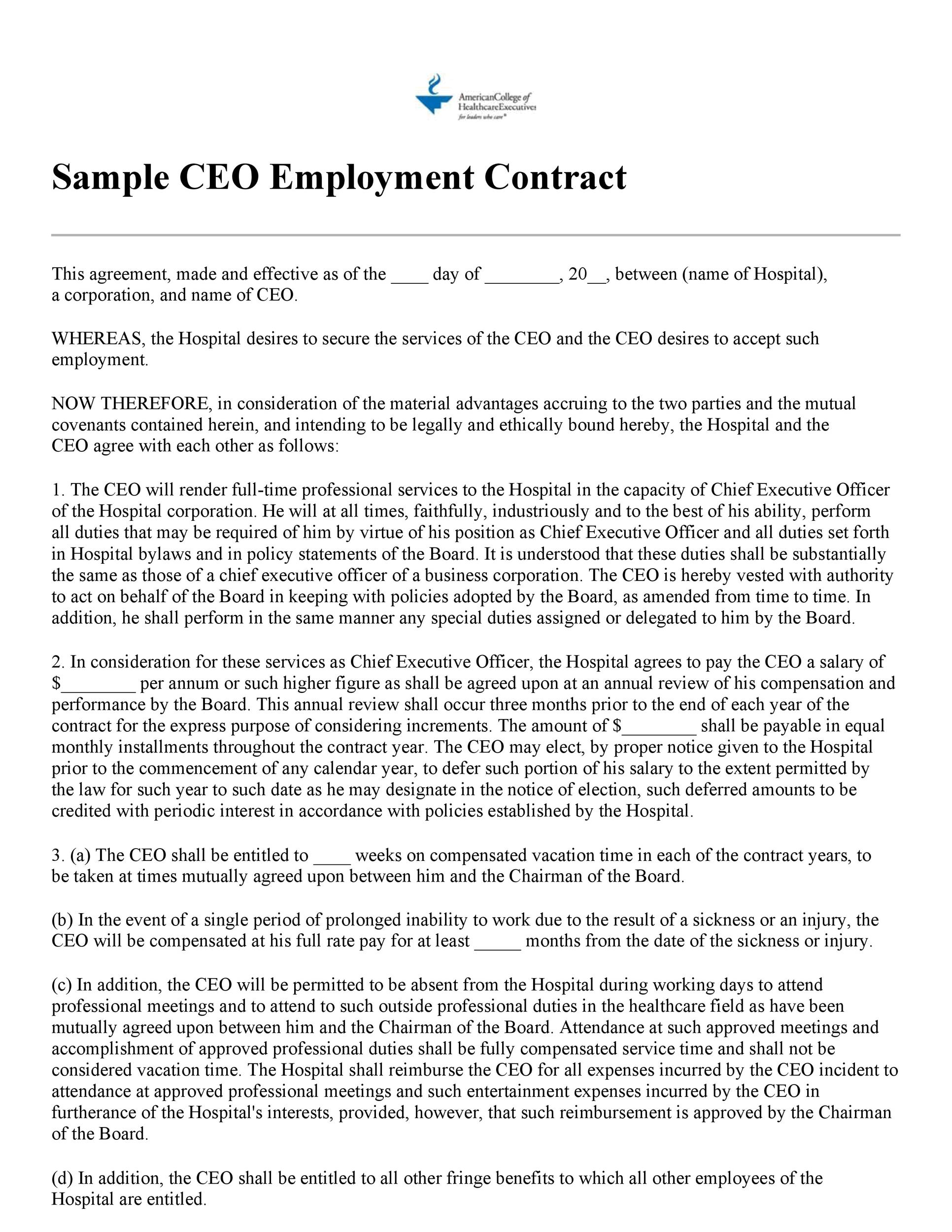 Free employment contract 10