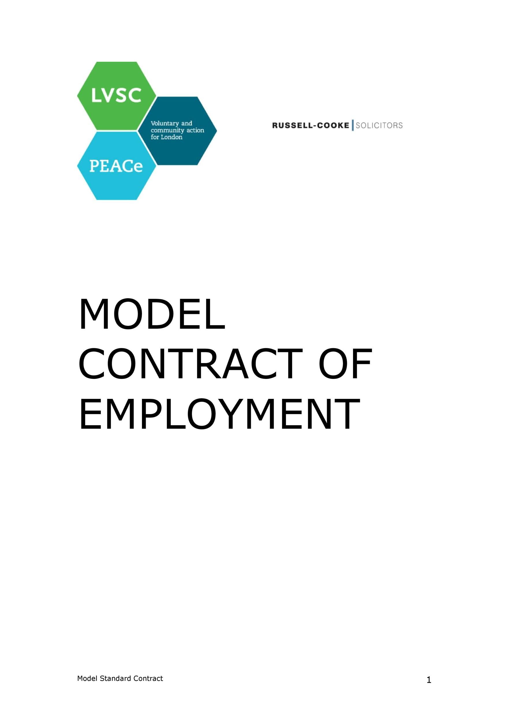 Free employment contract 13