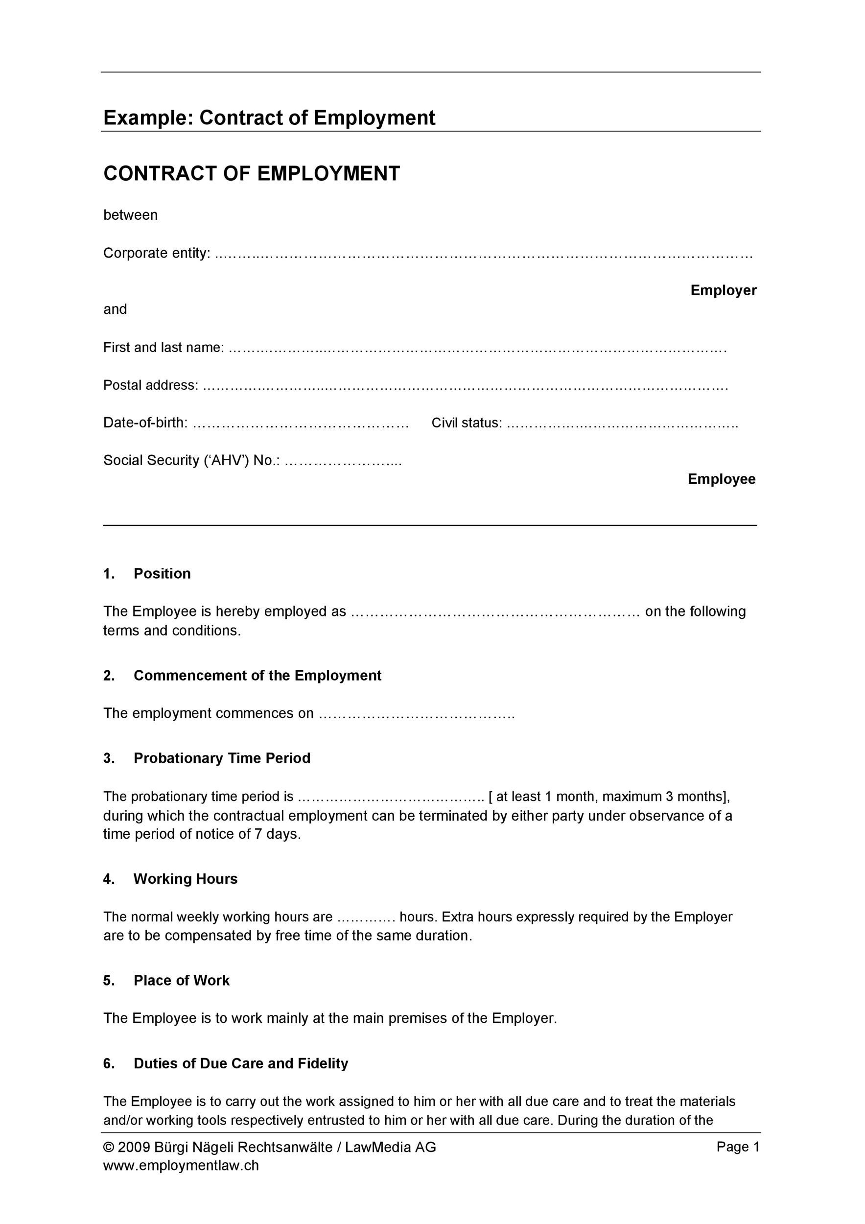 Free employment contract 17