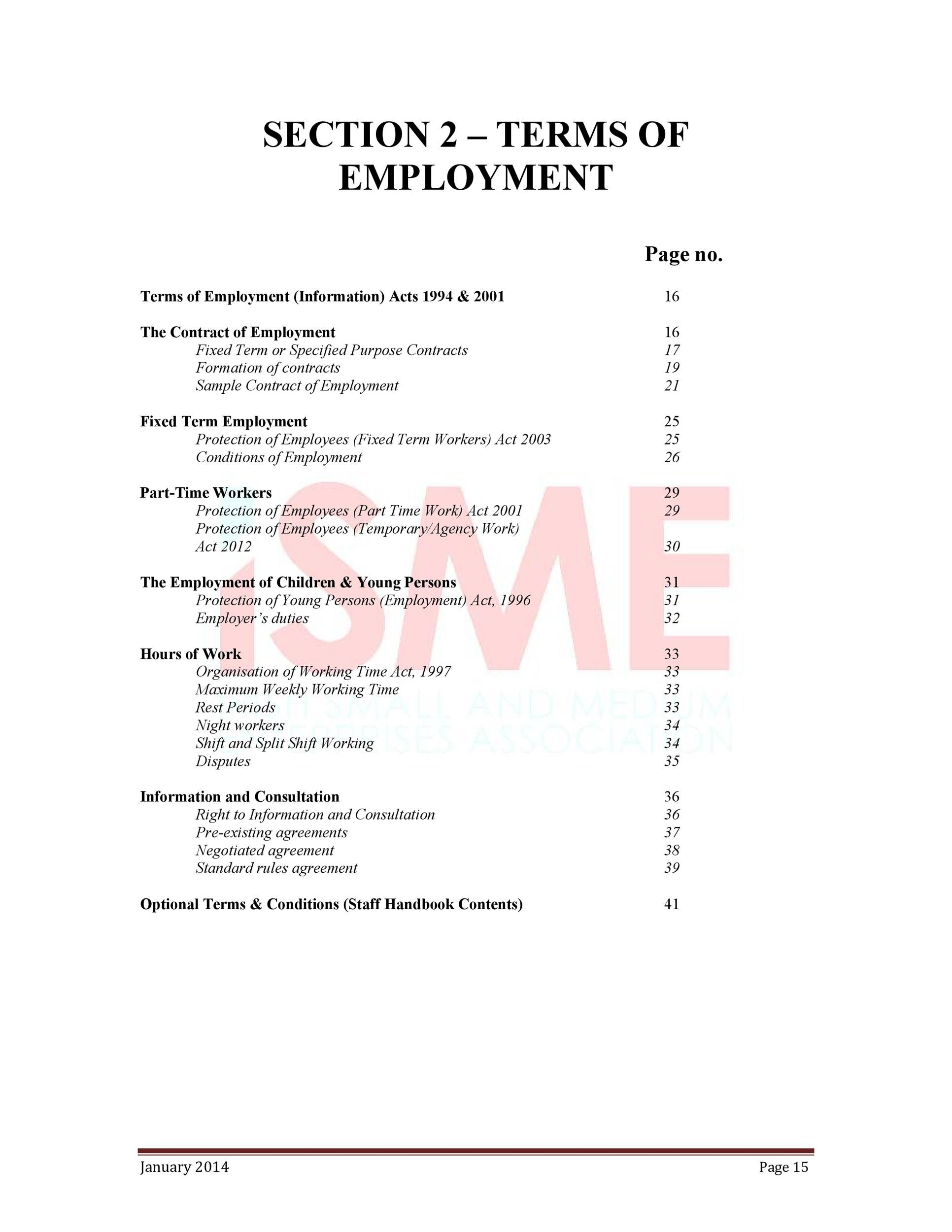 Free employment contract 20