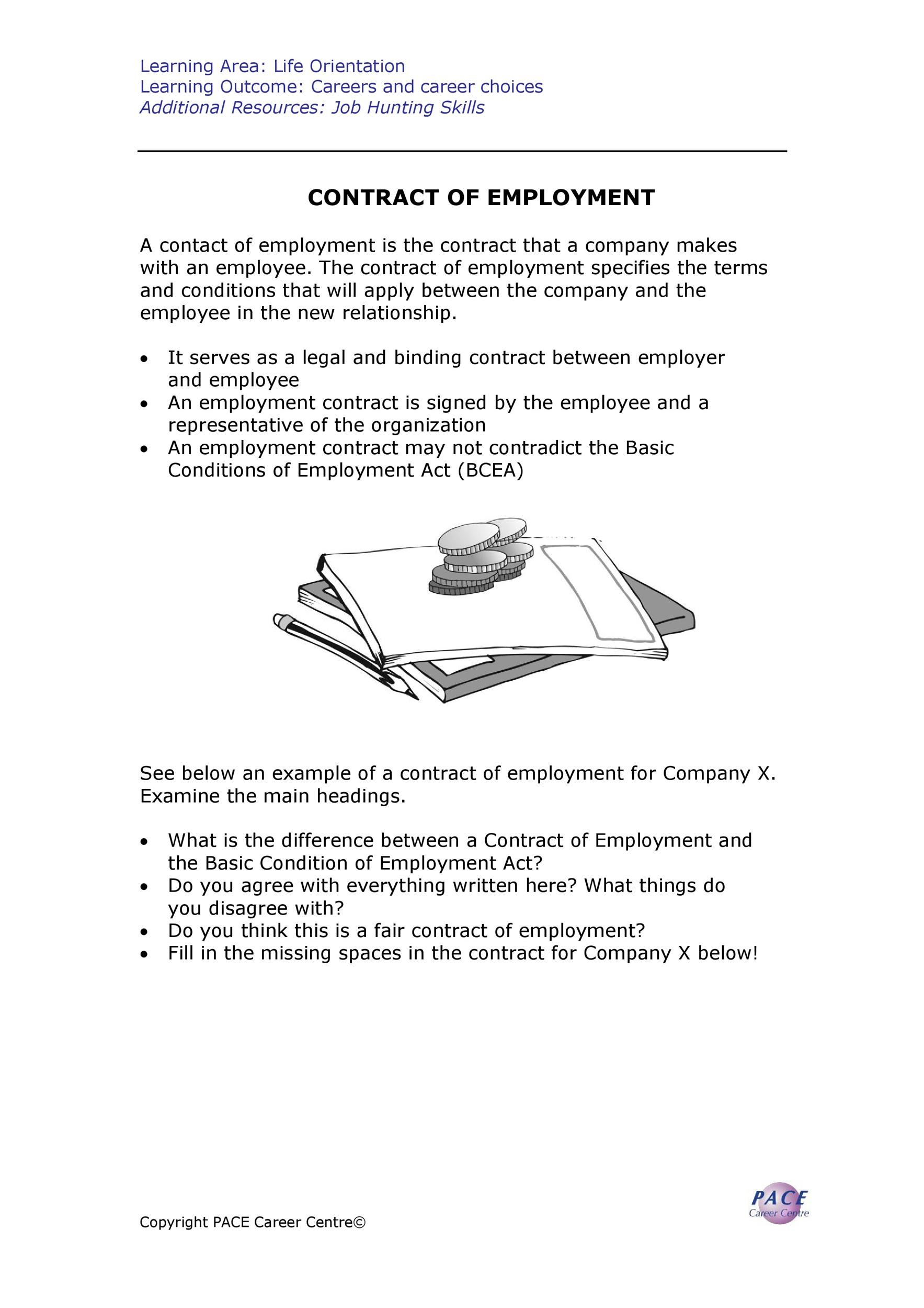 Free employment contract 24
