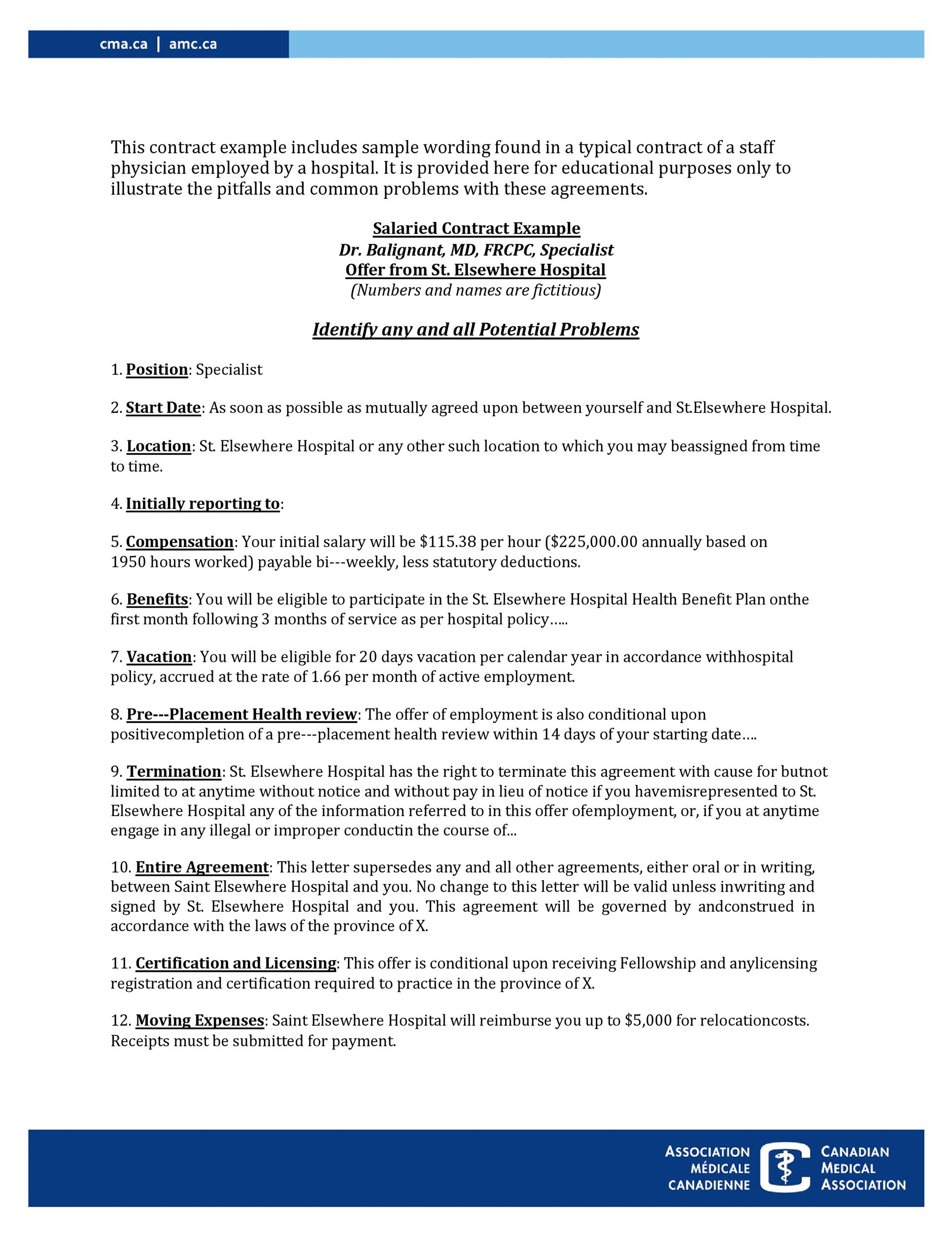 Free employment contract 32