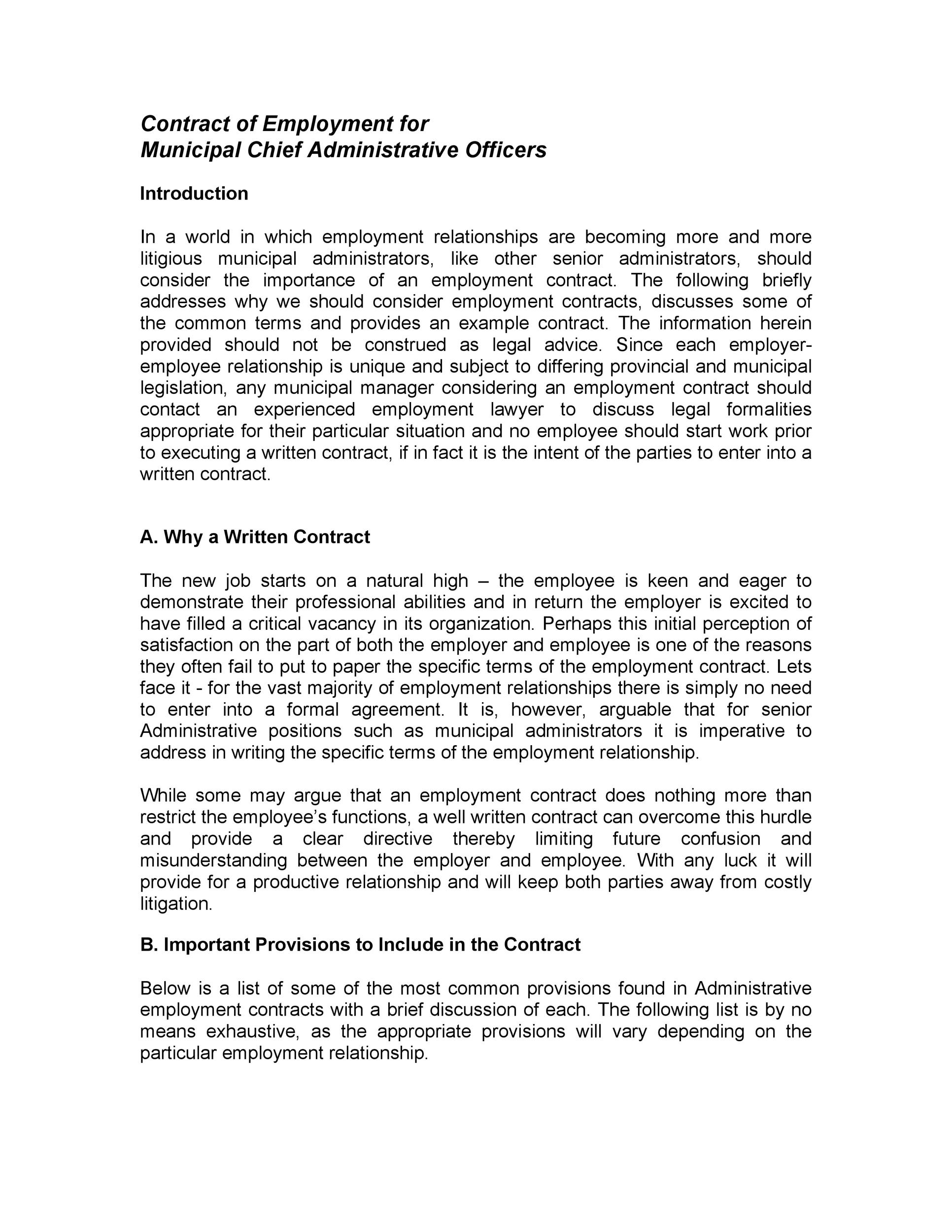 Free employment contract 39
