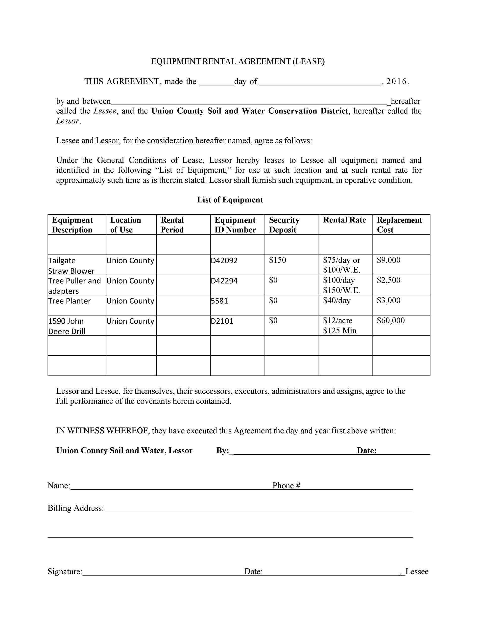 Free equipment lease agreement 04