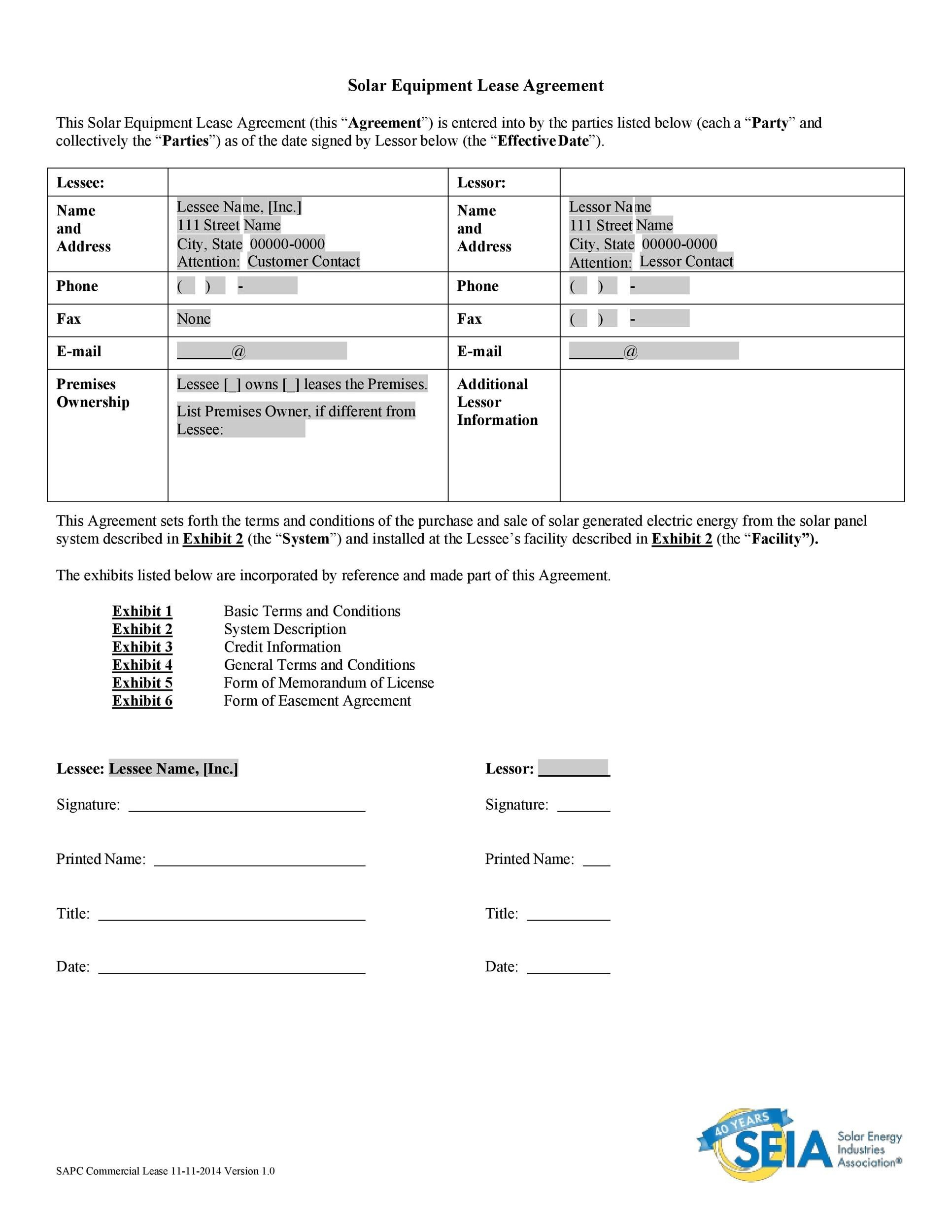 Free equipment lease agreement 17