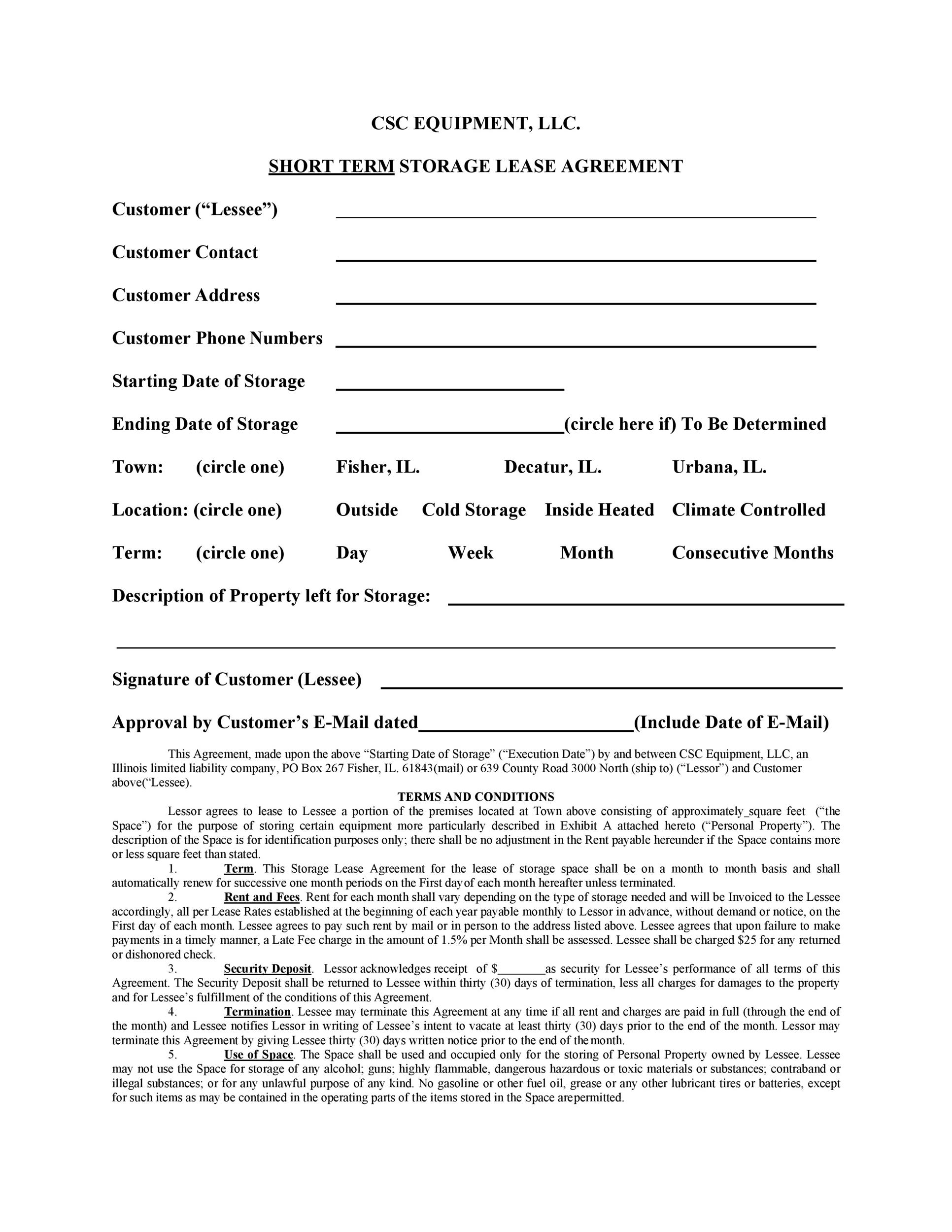 Free equipment lease agreement 25