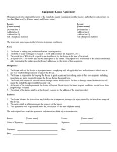 equipment lease agreement 33