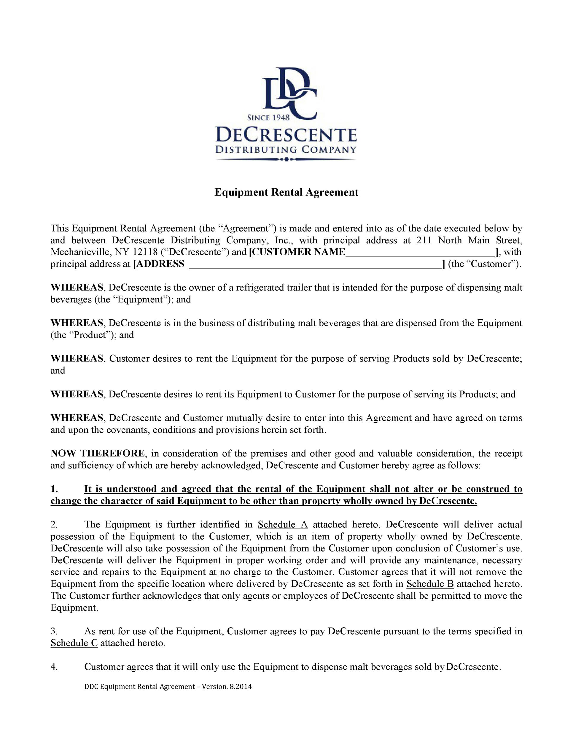 Free equipment lease agreement 35