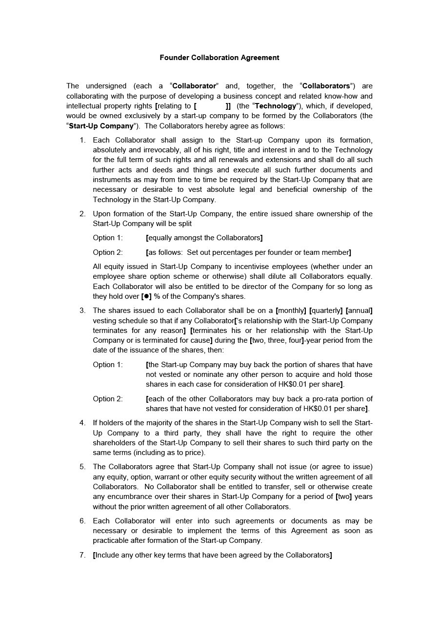 Free founders agreement 02