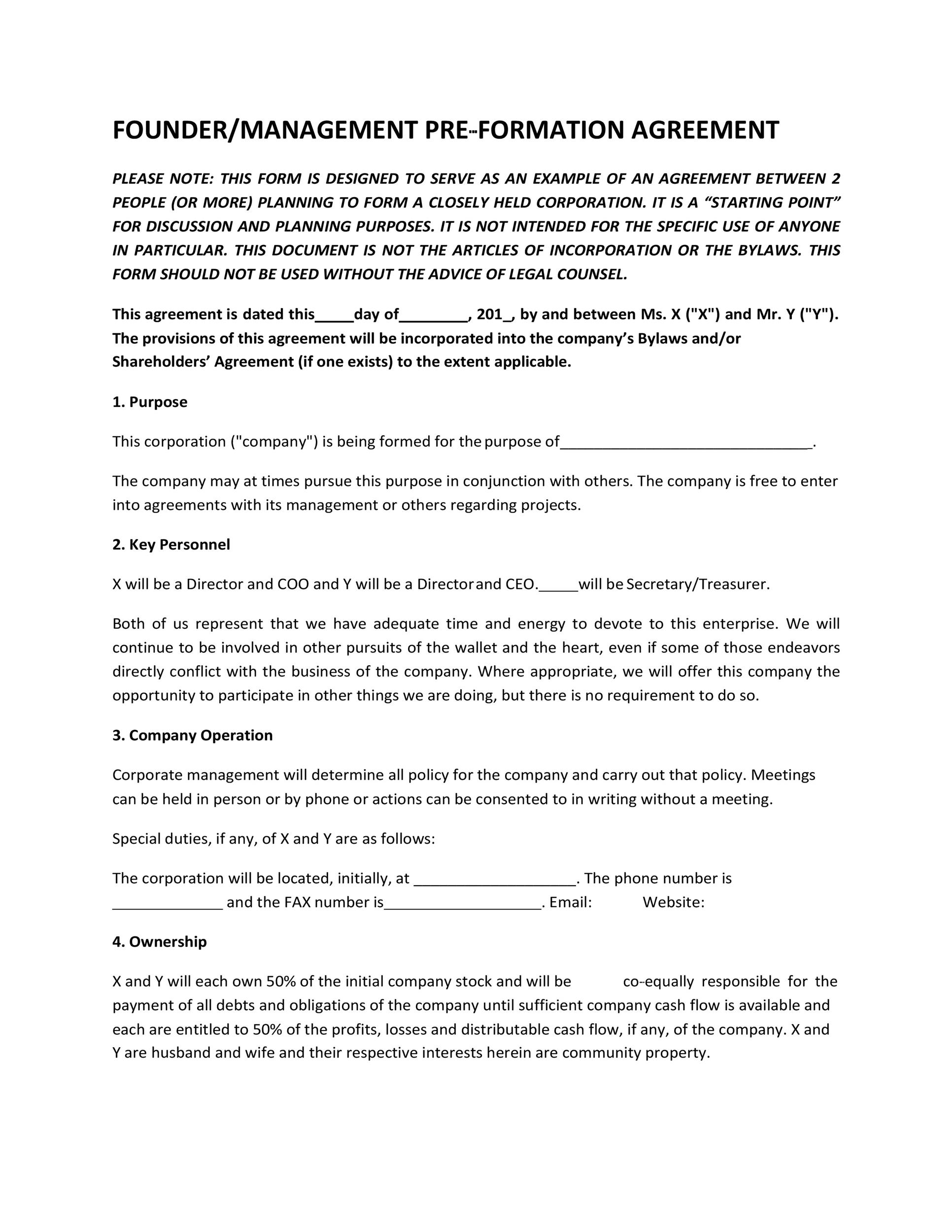 Free founders agreement 17