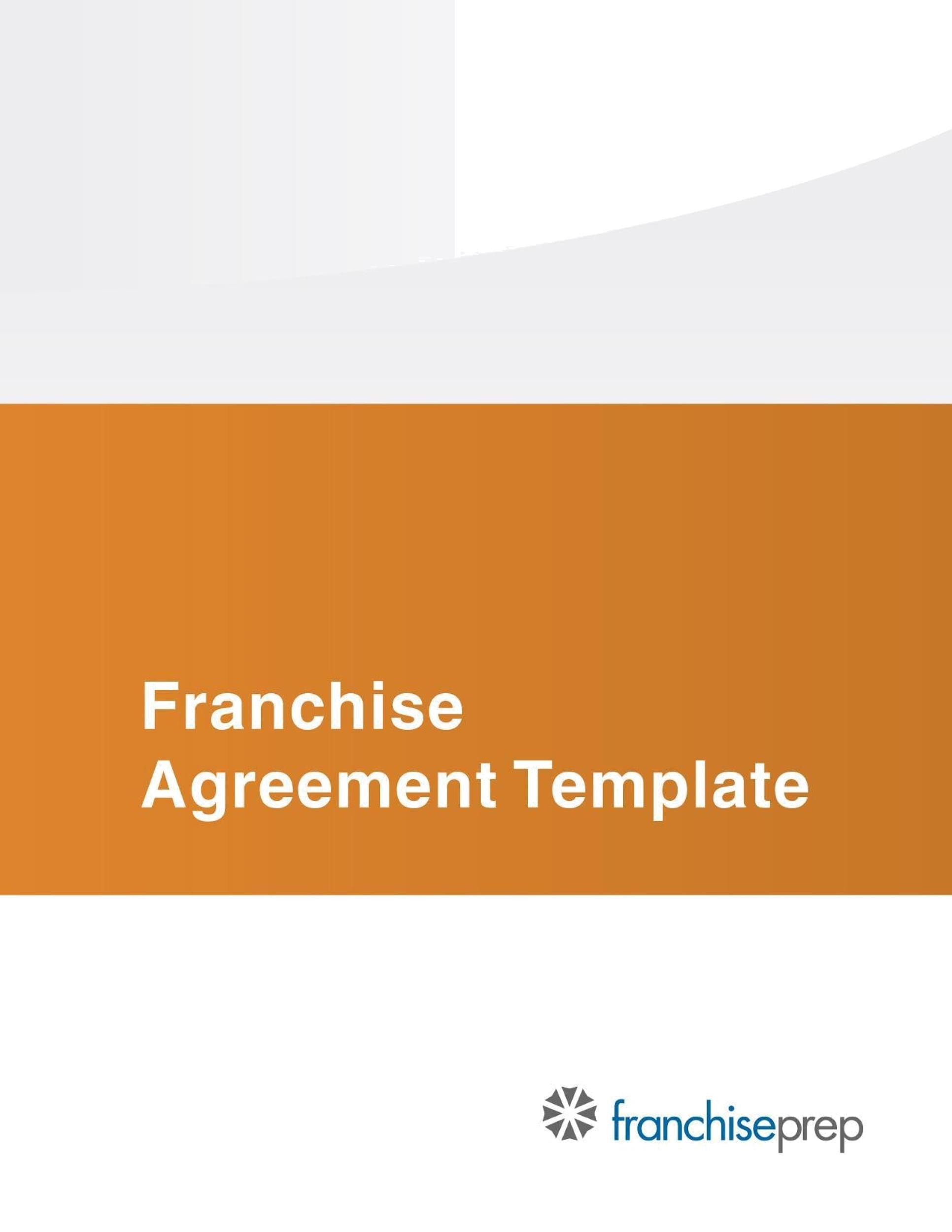 Free franchise agreement 01