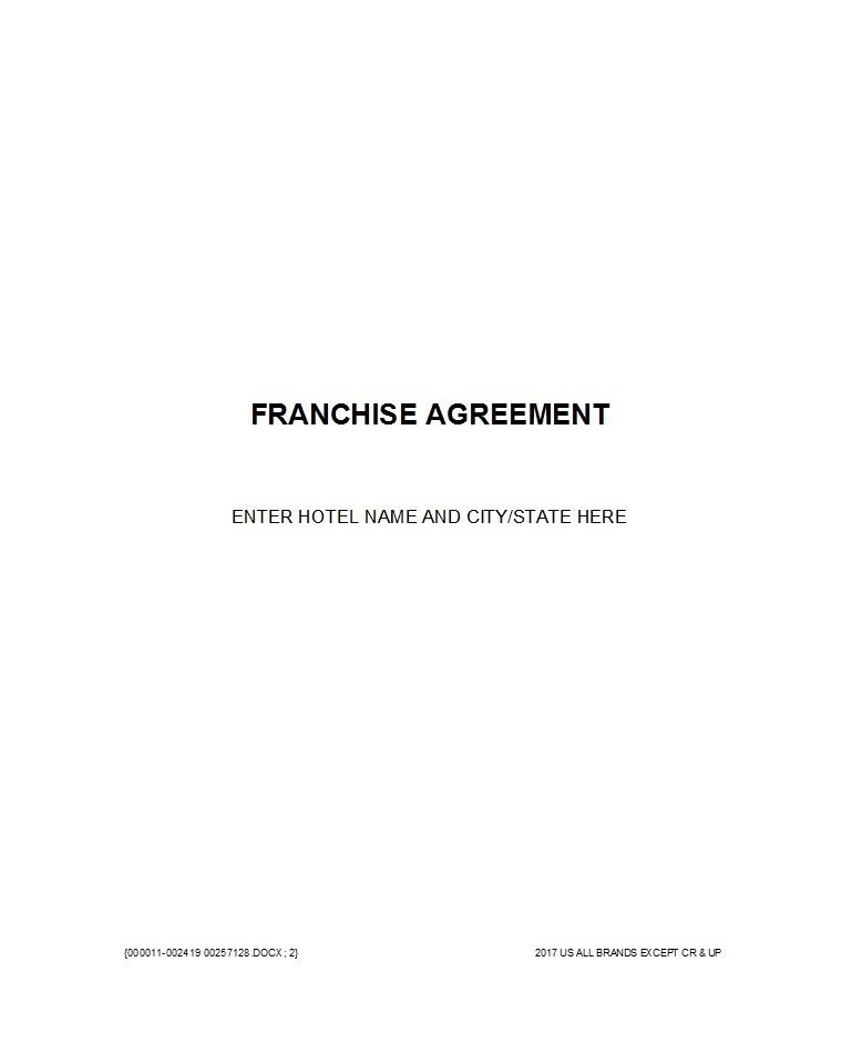Free franchise agreement 13