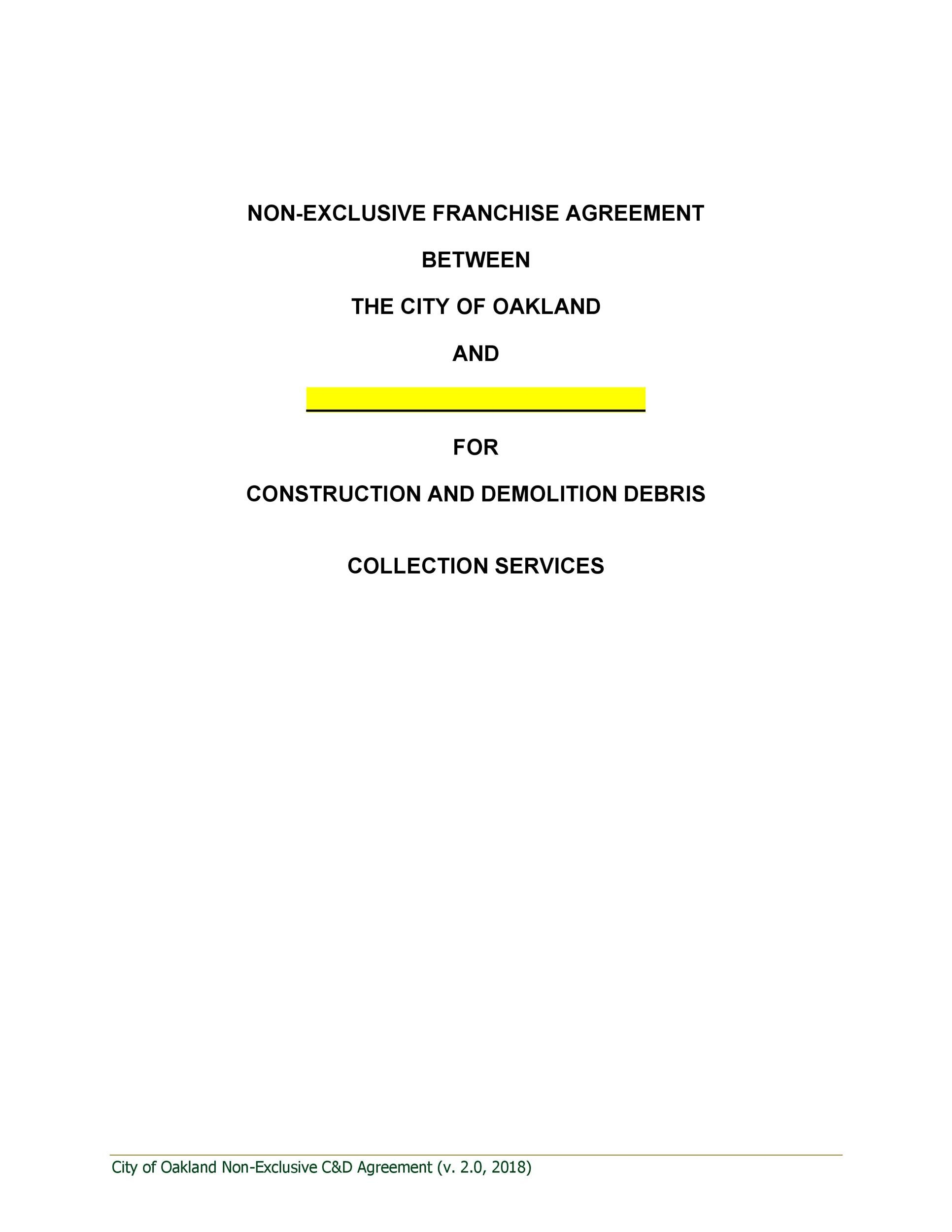 Free franchise agreement 20