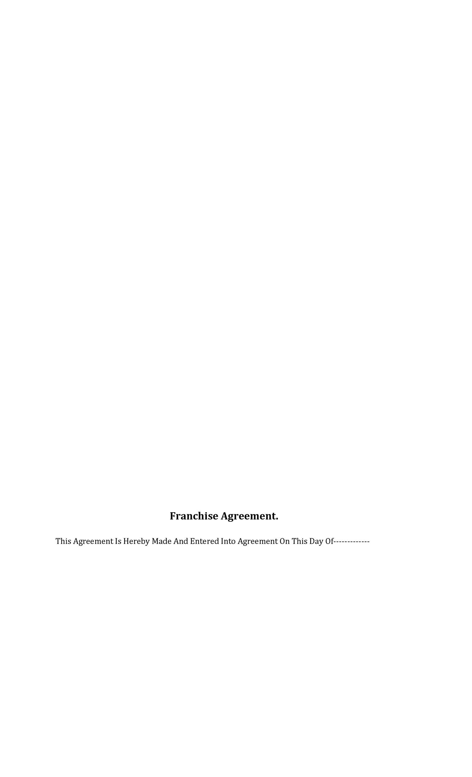Free franchise agreement 36