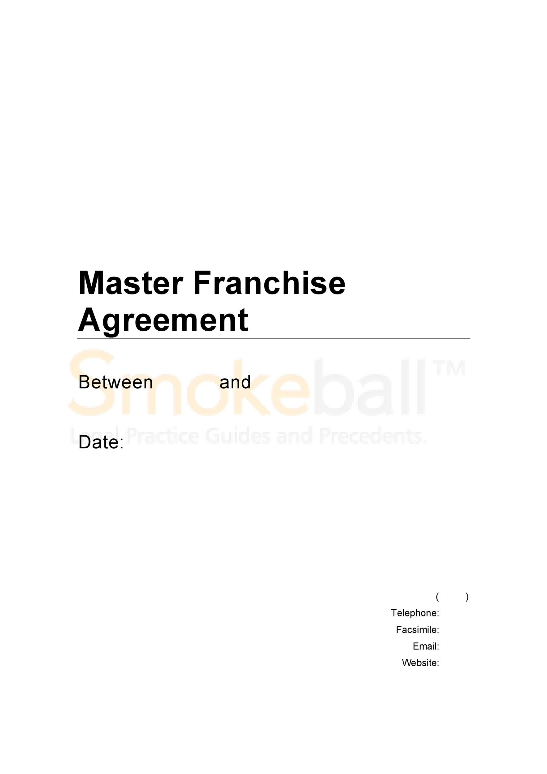 Free franchise agreement 40