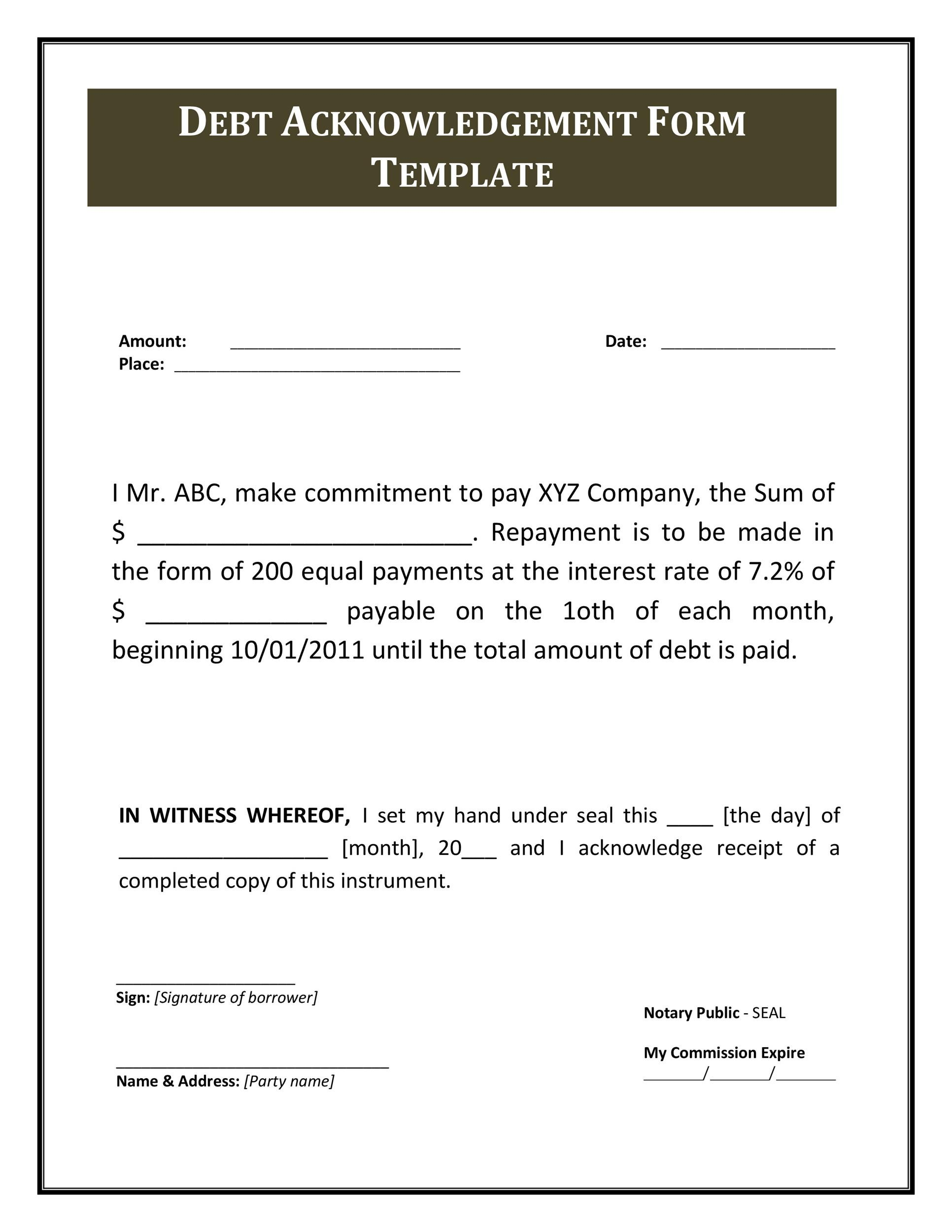 Free iou template 31