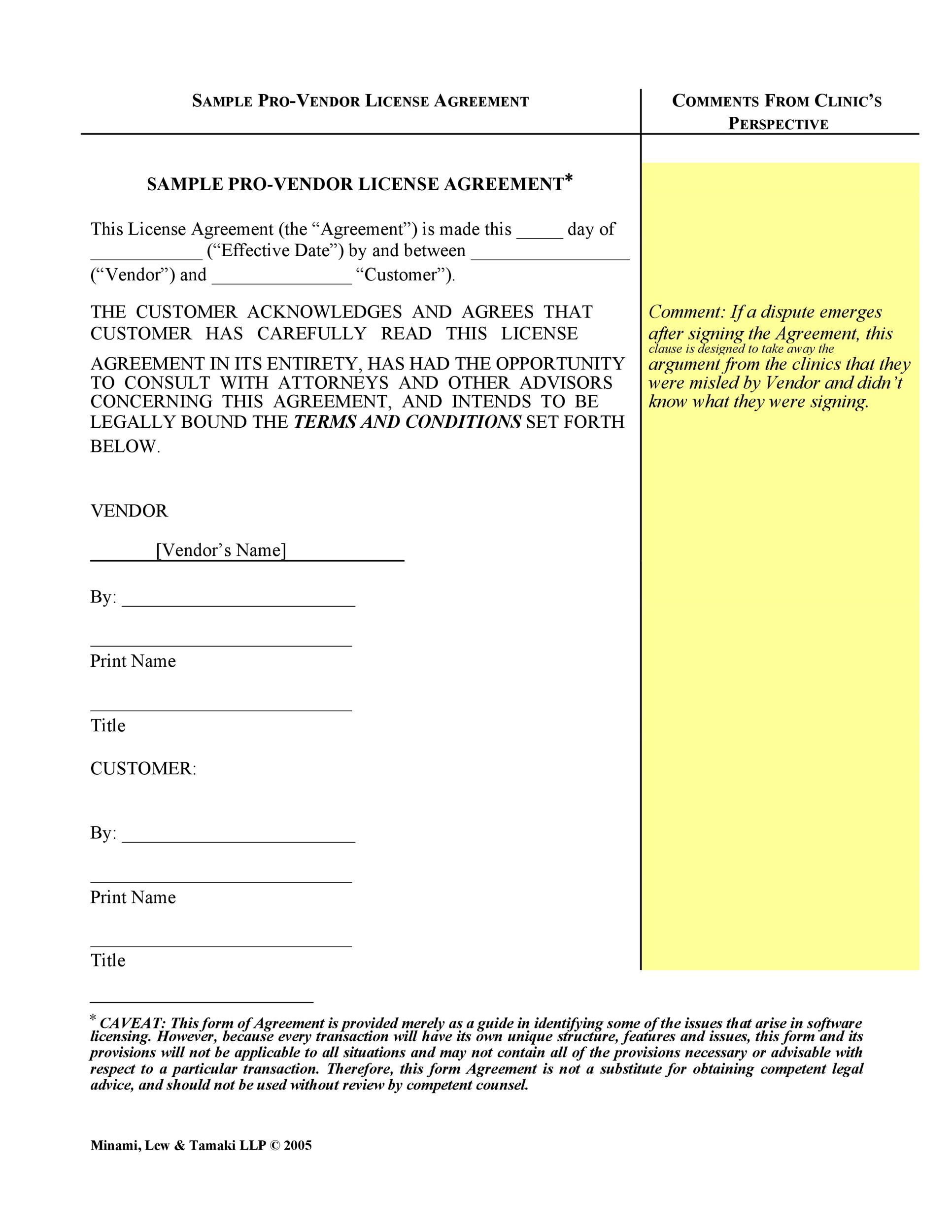 Free license agreement template 05