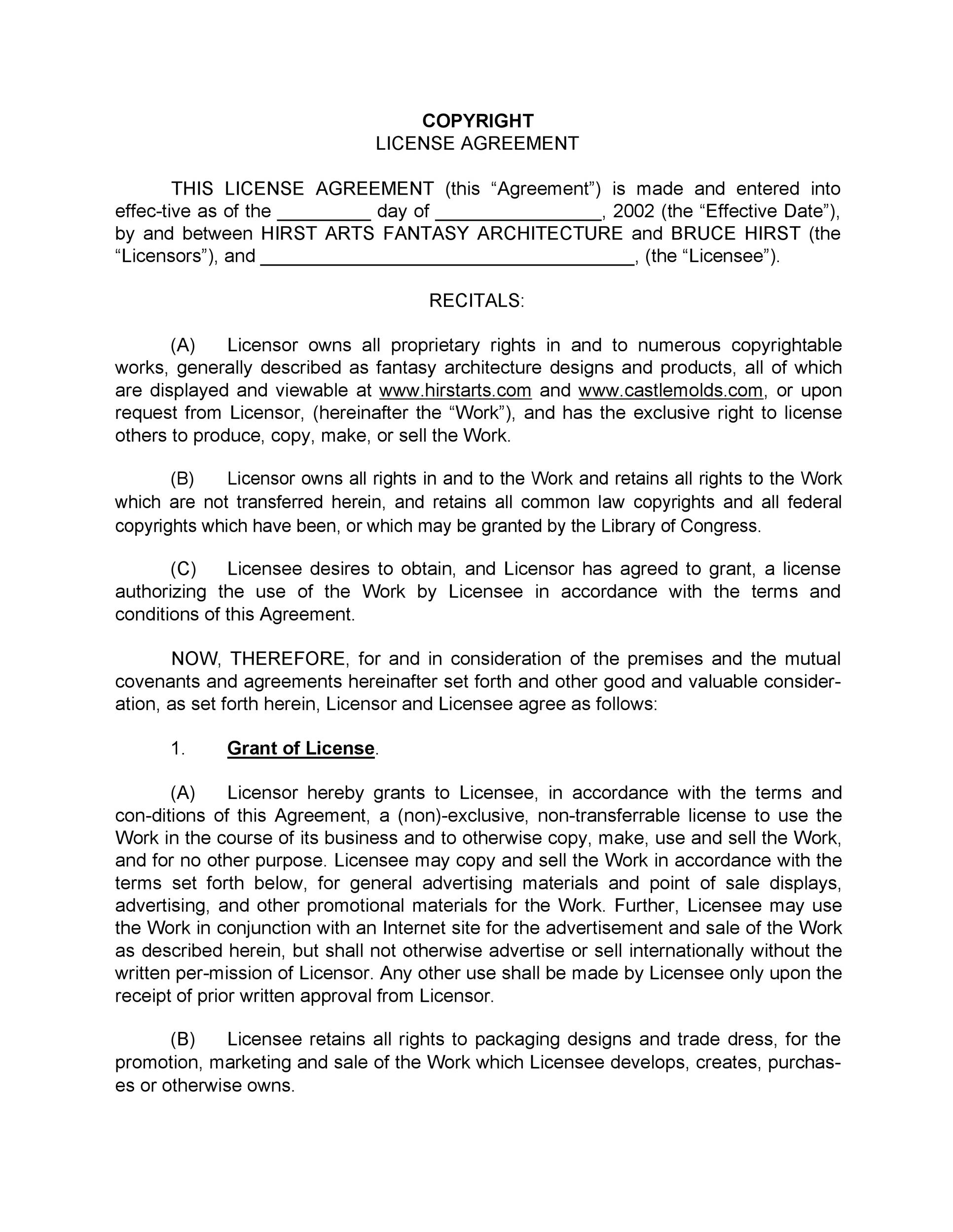 Free license agreement template 08