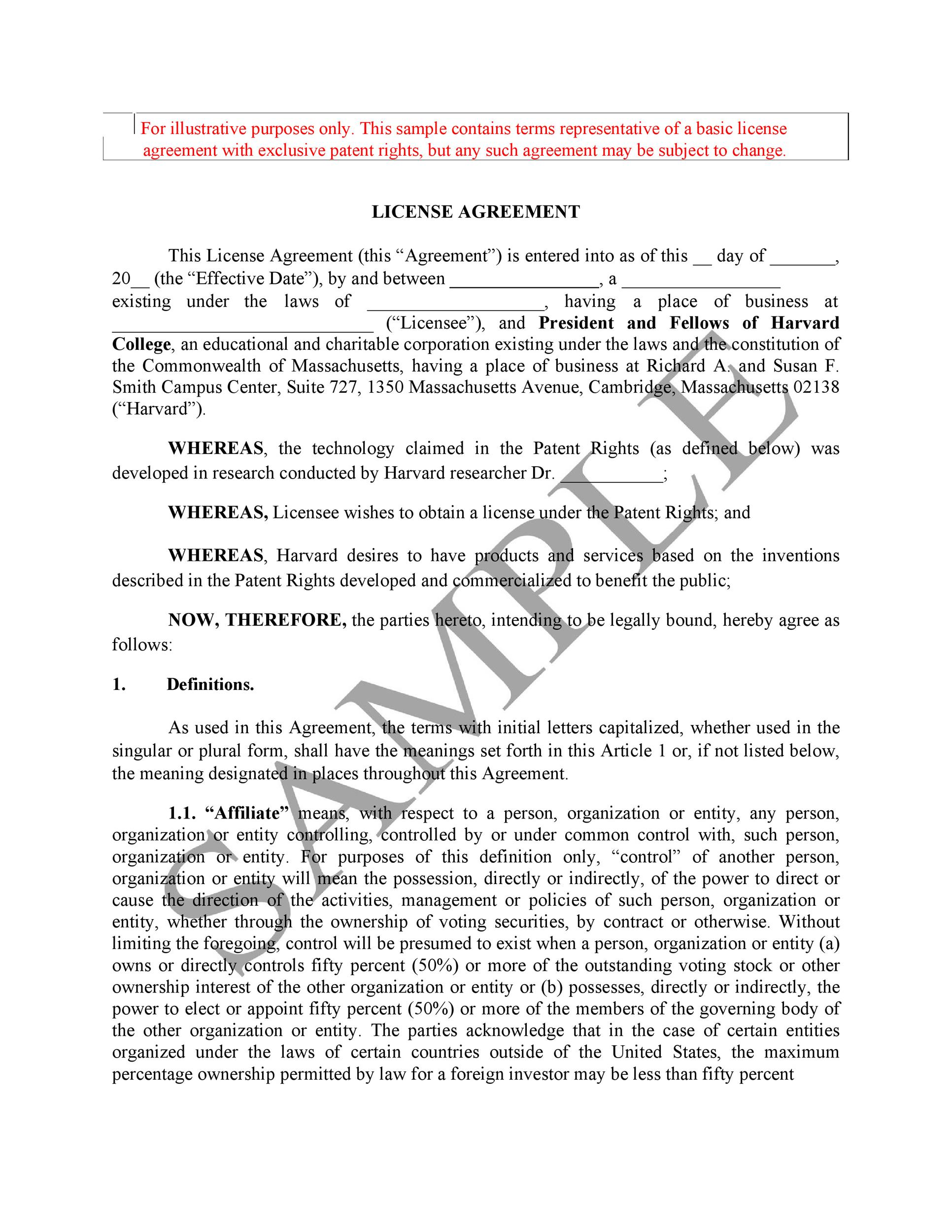 Free license agreement template 09