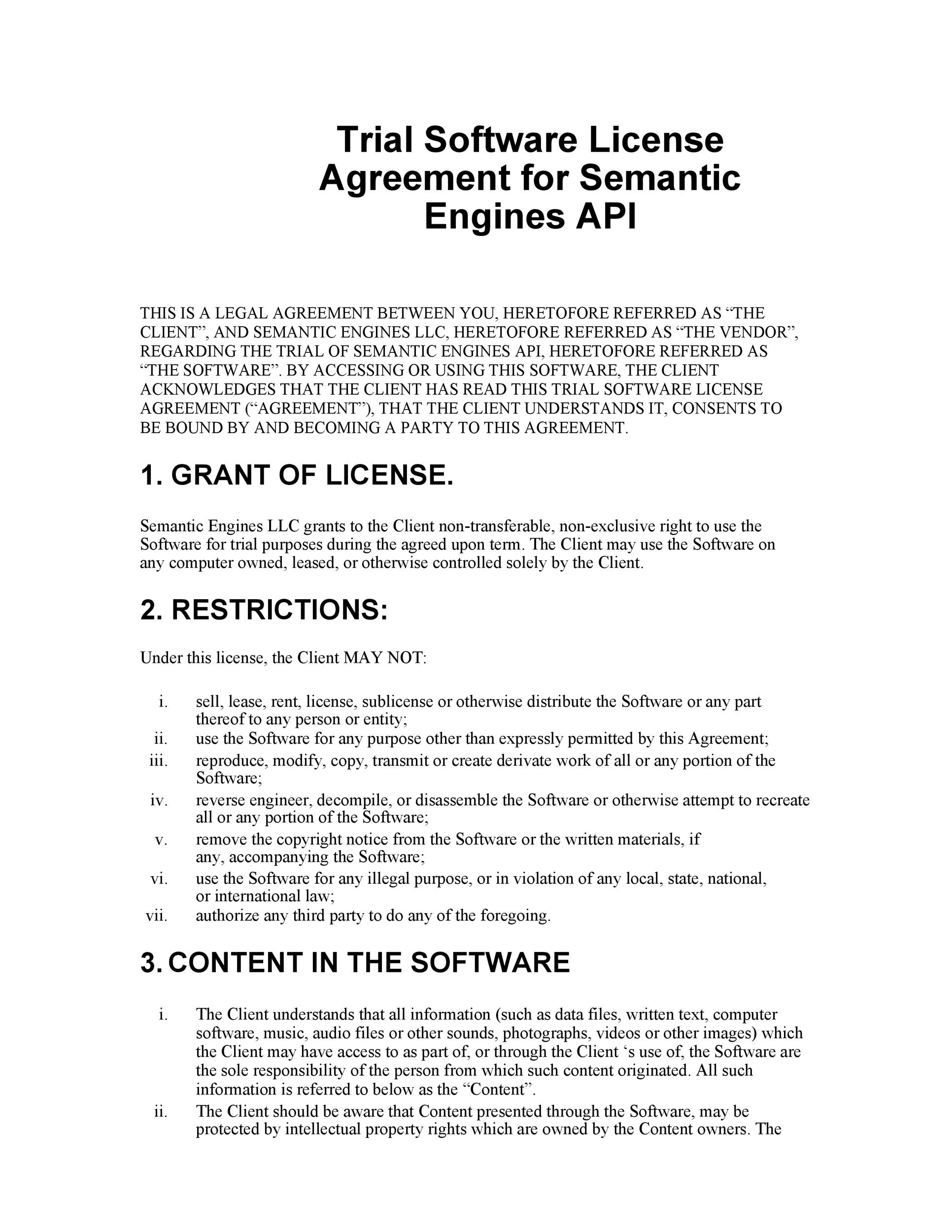 Free license agreement template 18