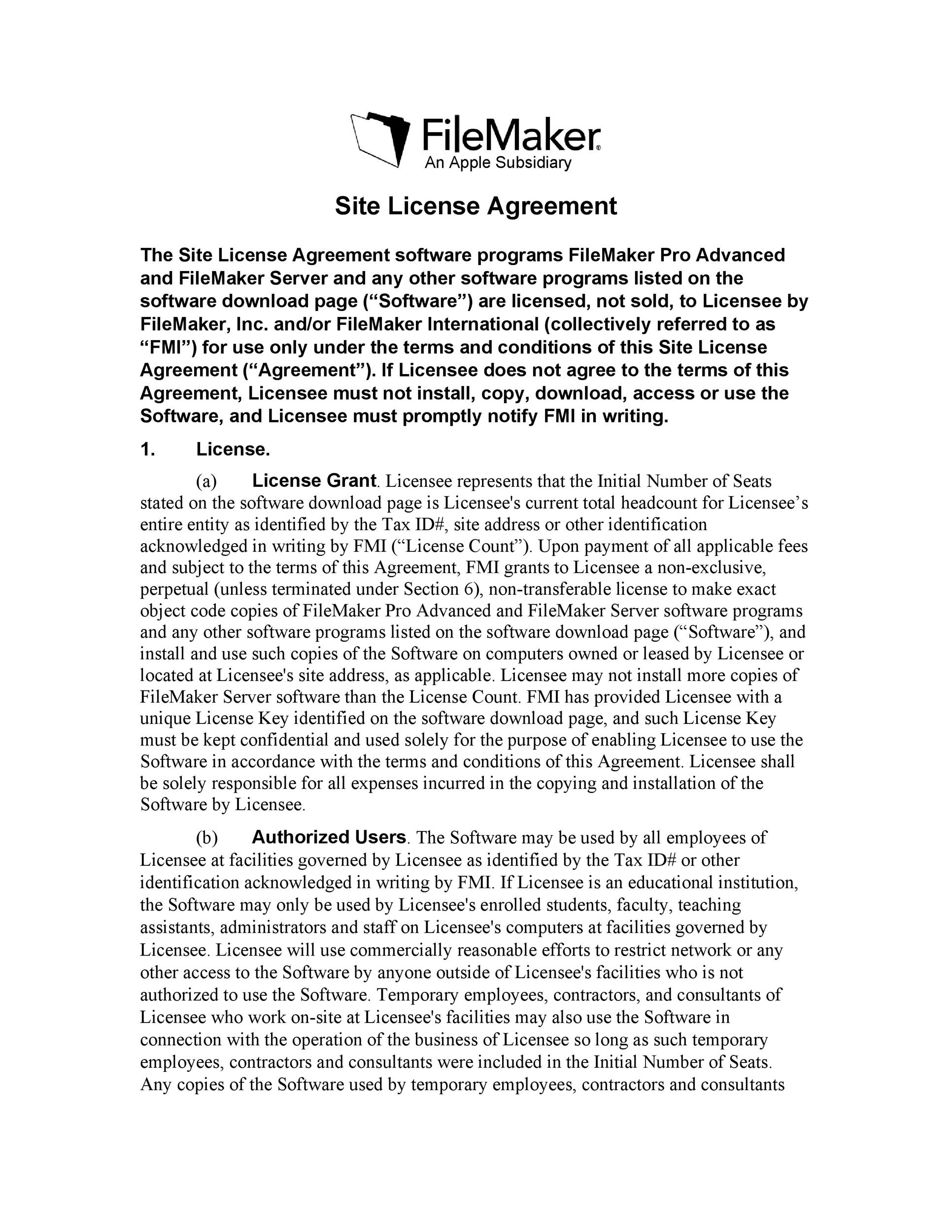 Free license agreement template 19