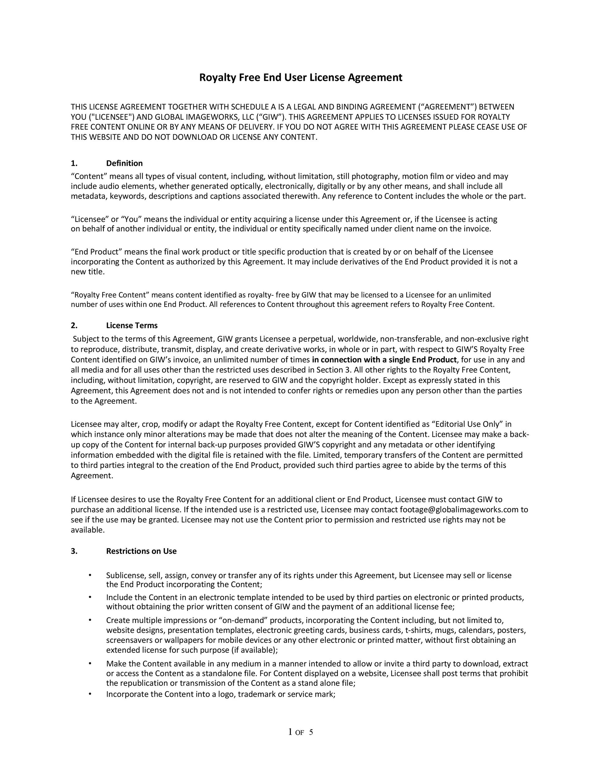 Free license agreement template 26