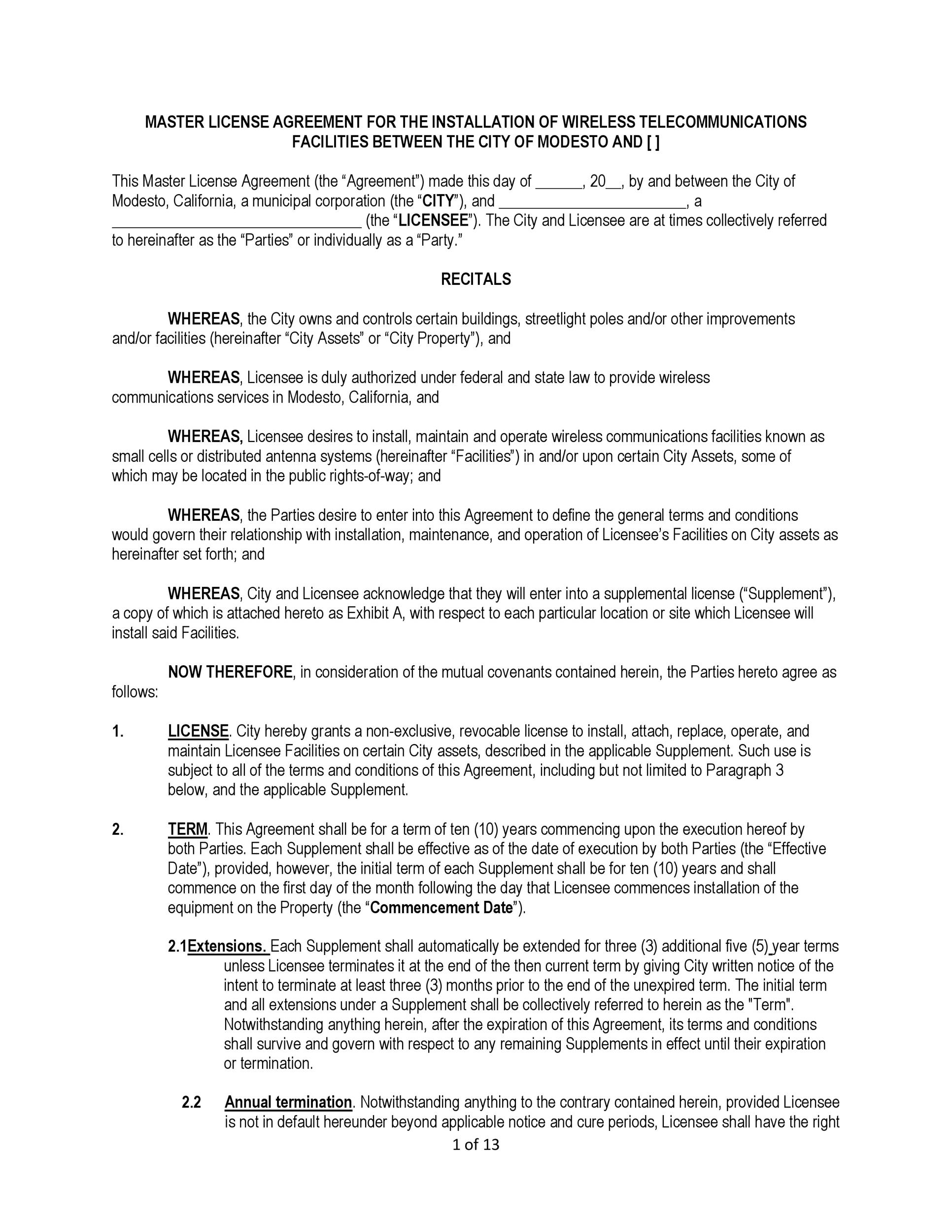 Free license agreement template 32
