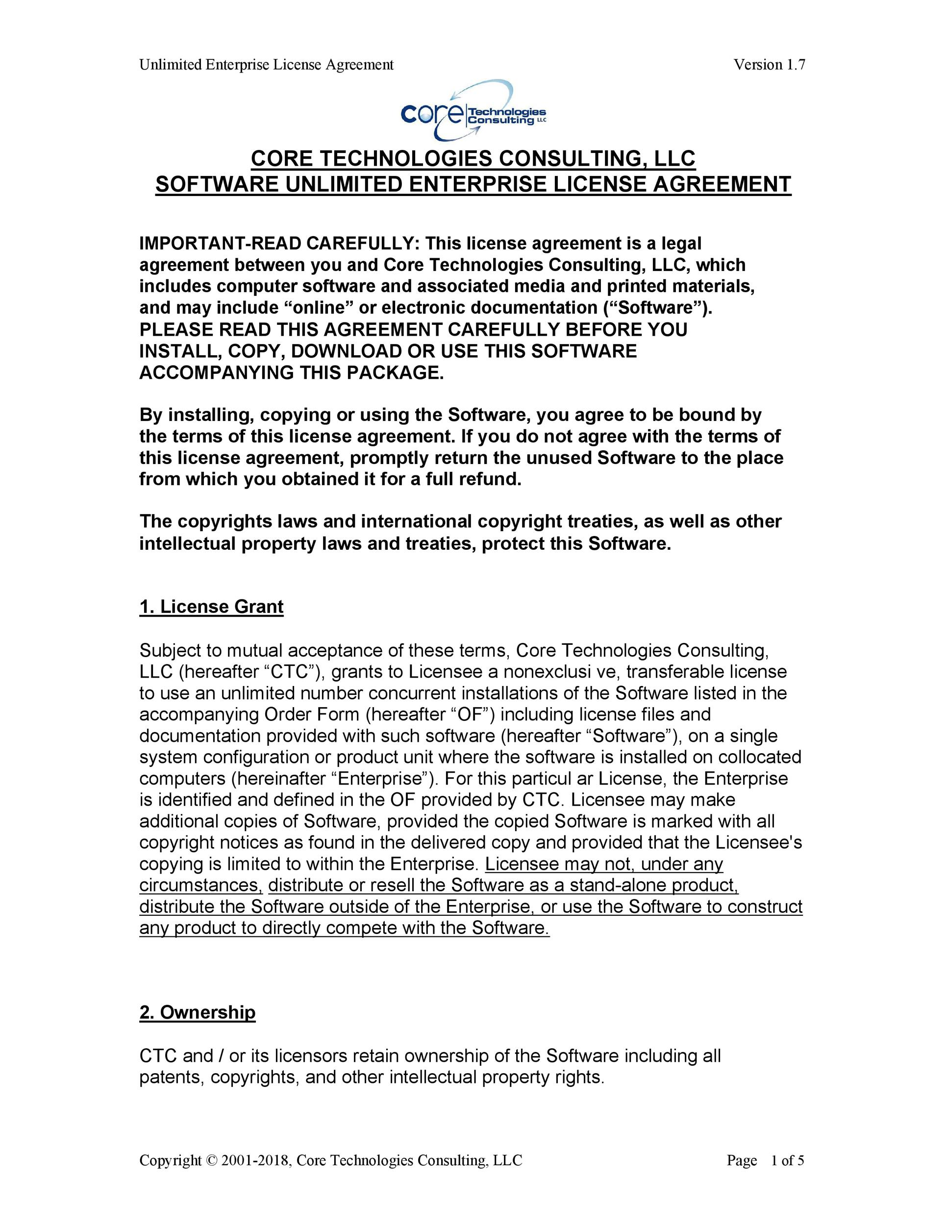 Free license agreement template 40
