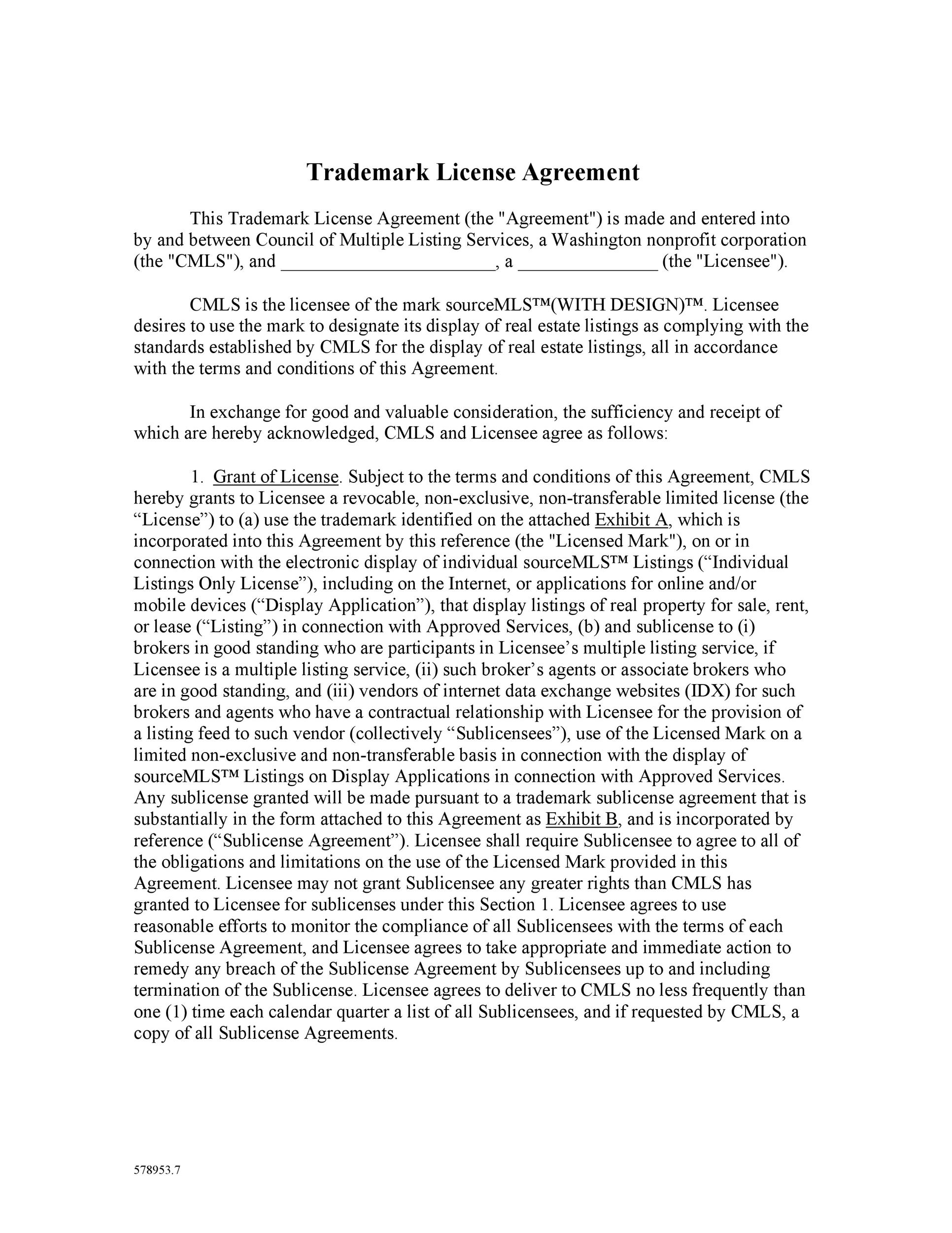 Free license agreement template 42
