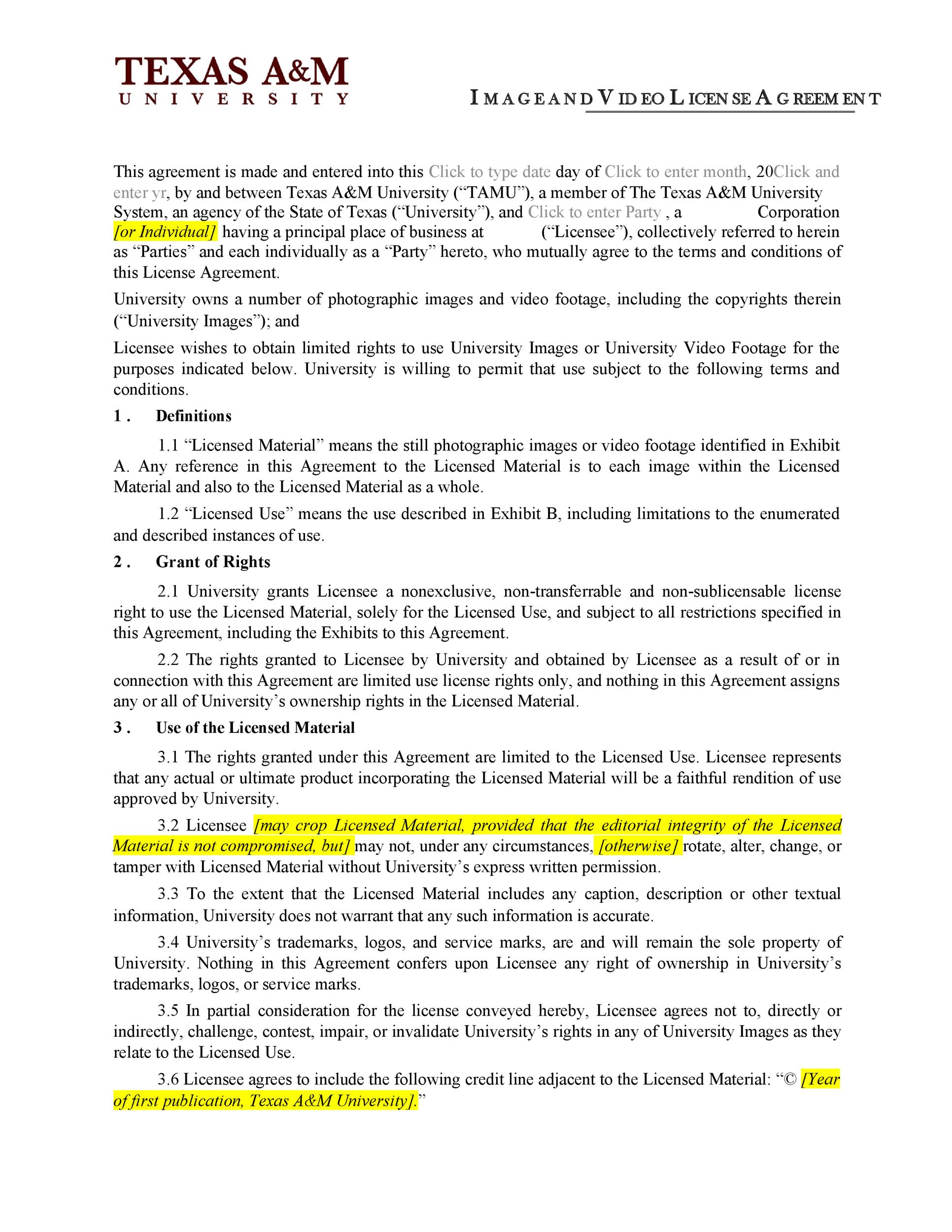 Free license agreement template 46