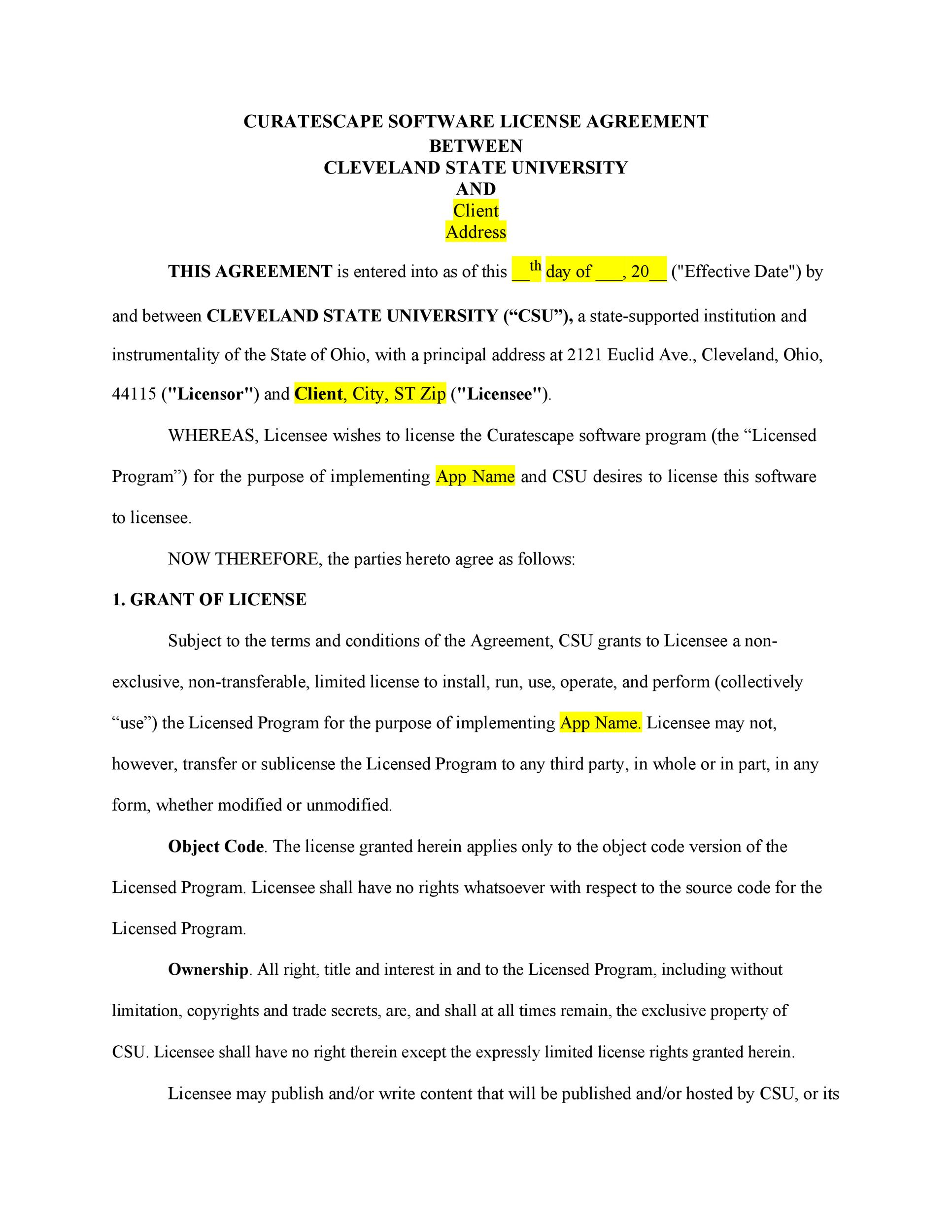 Free license agreement template 48