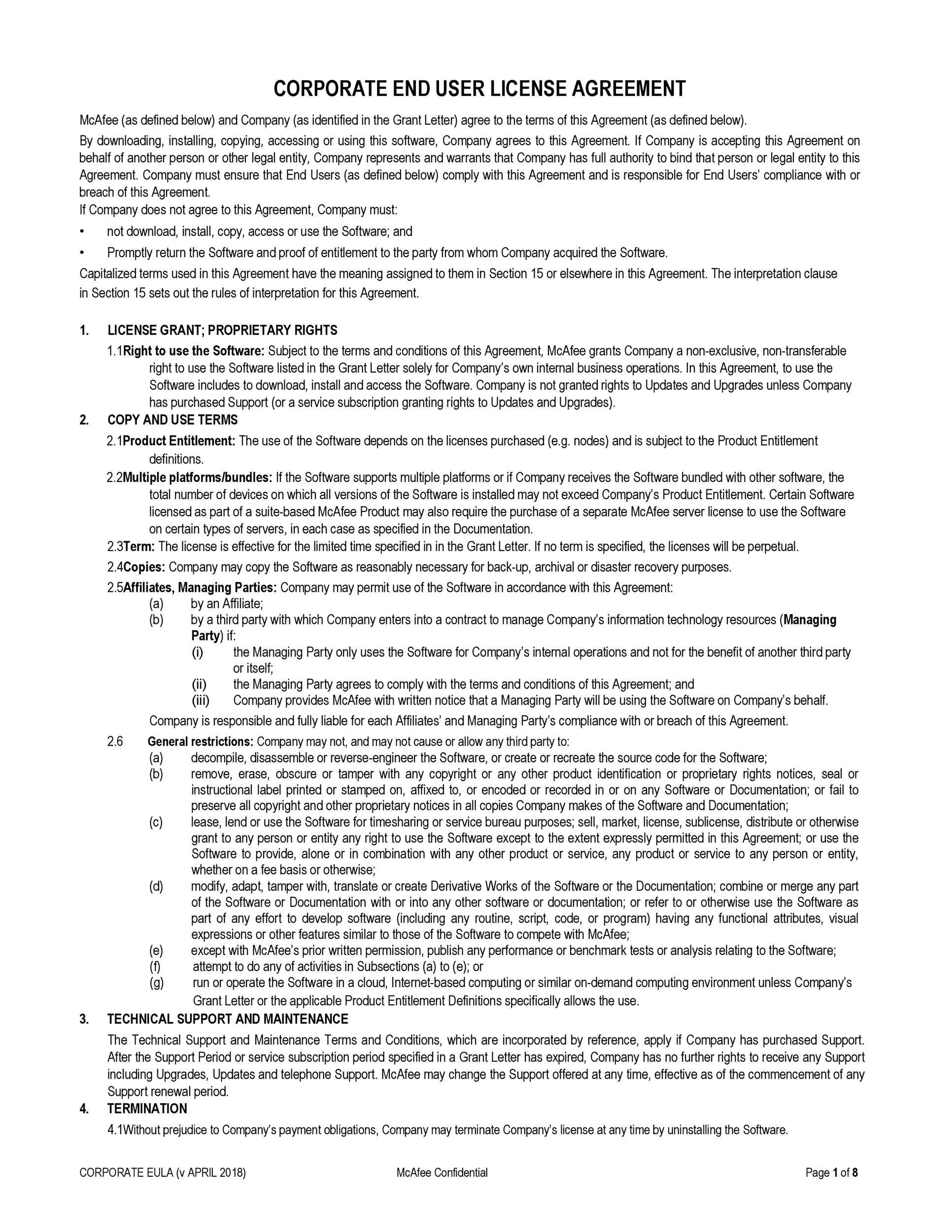 Free license agreement template 49