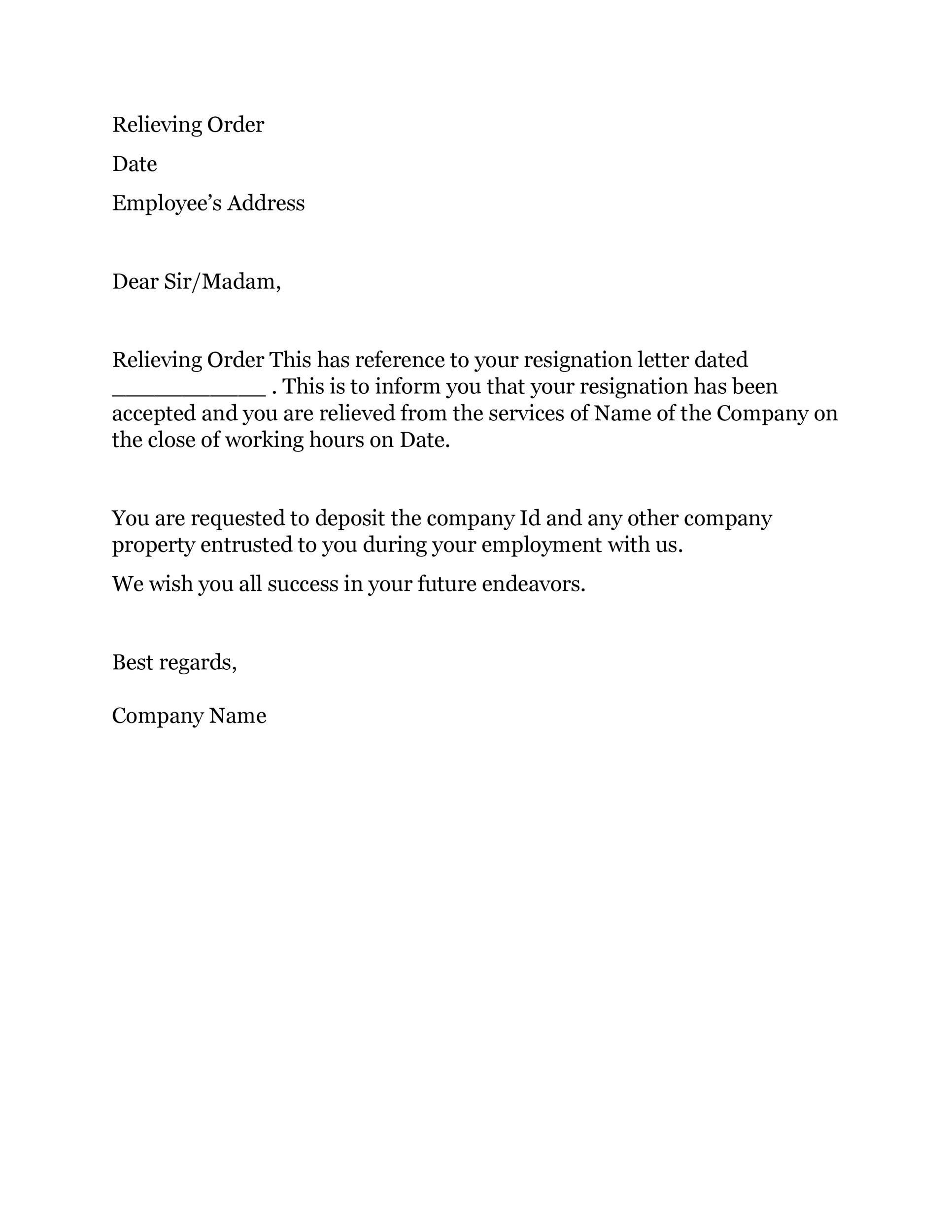 Resignation Letter For Engineer from templatelab.com