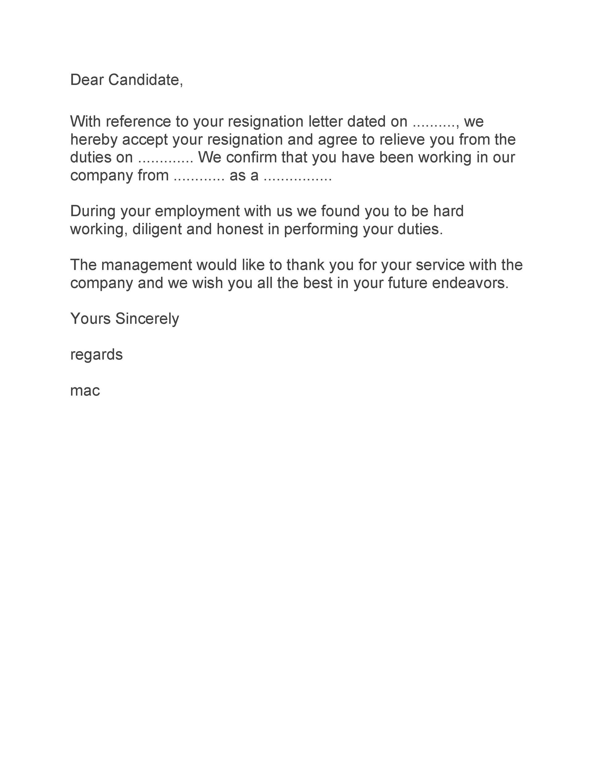 Employee No Longer With Company Letter from templatelab.com