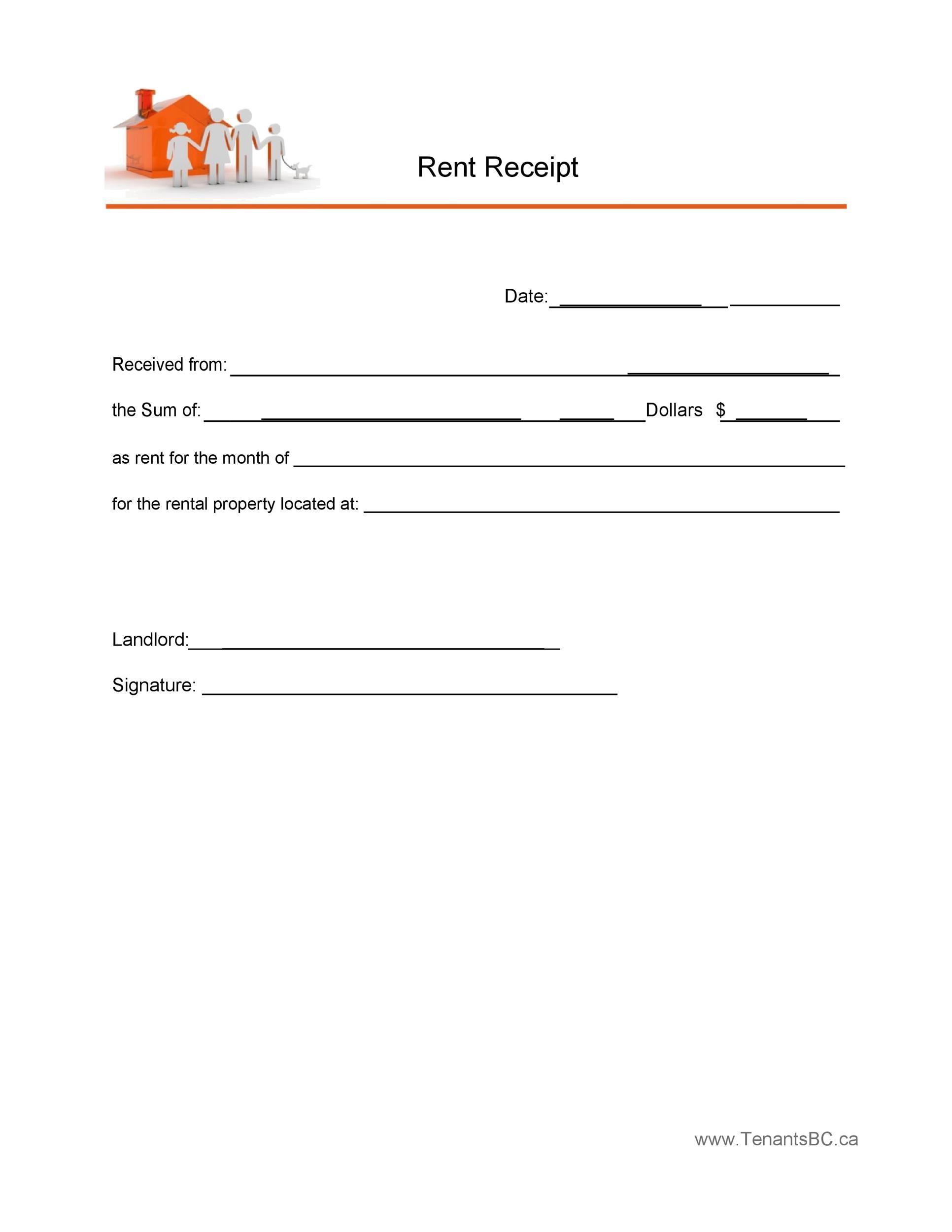 Free rent receipt 10