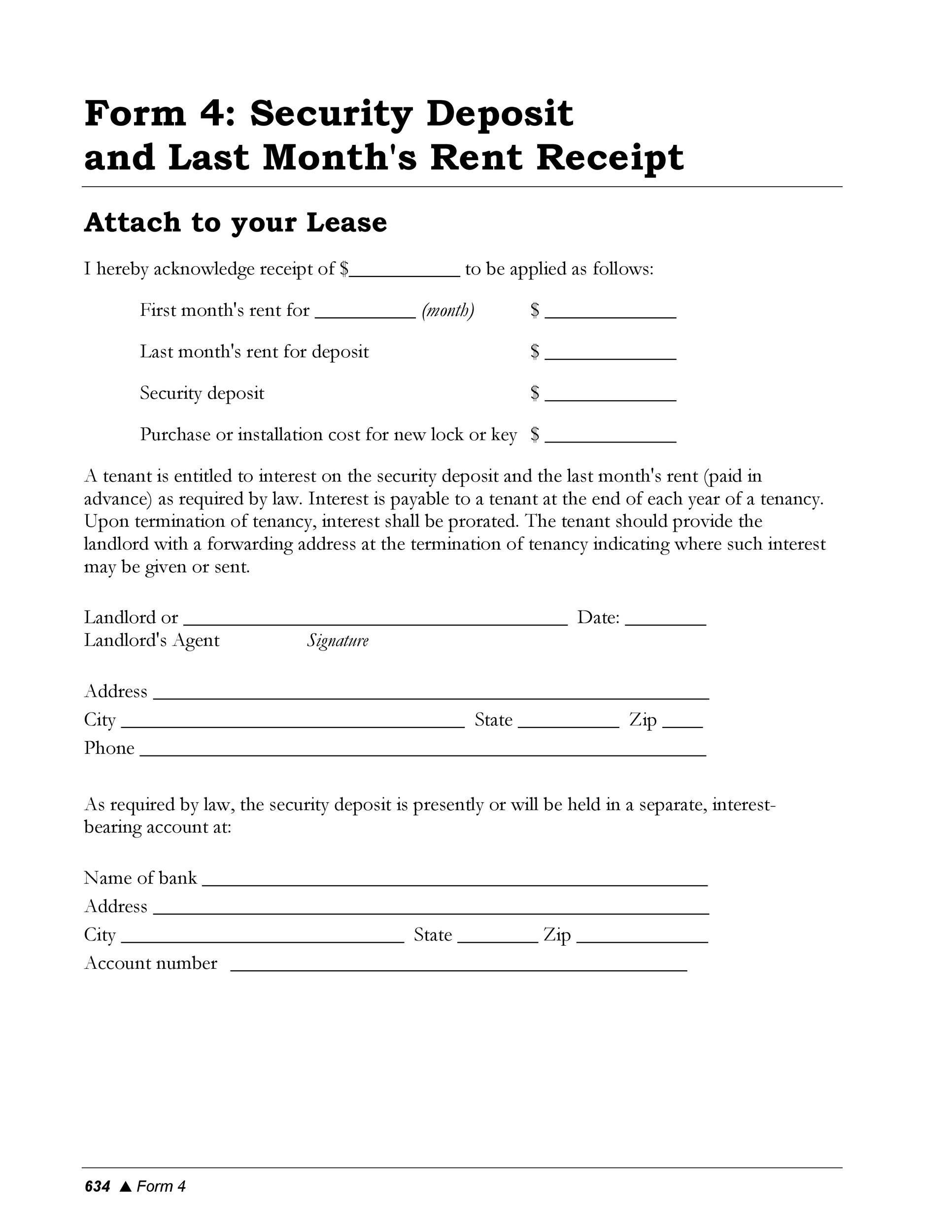 Free rent receipt 12