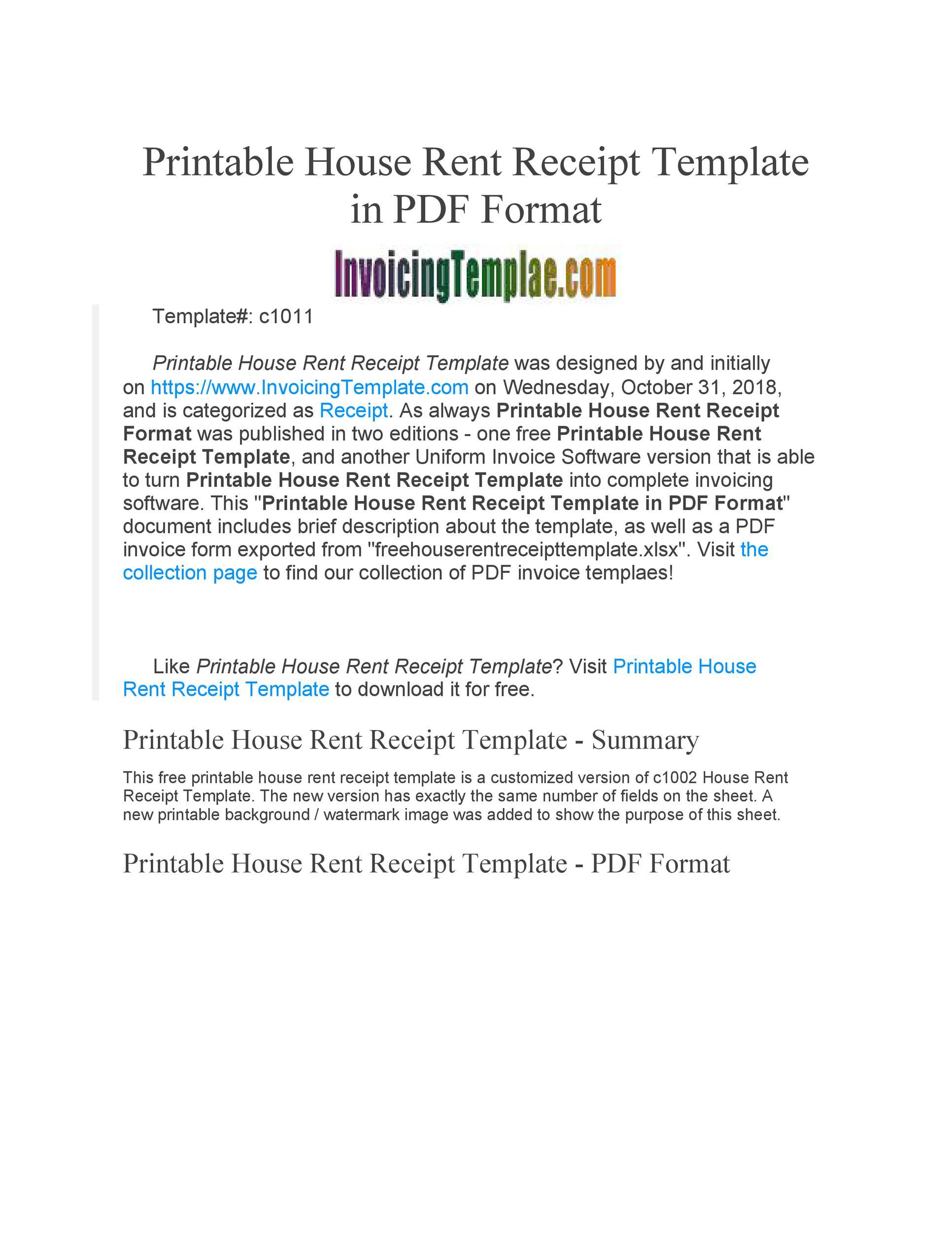 Free rent receipt 14
