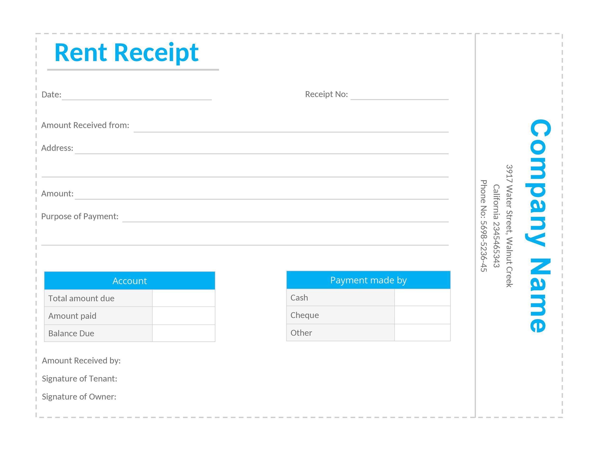 Free rent receipt 18