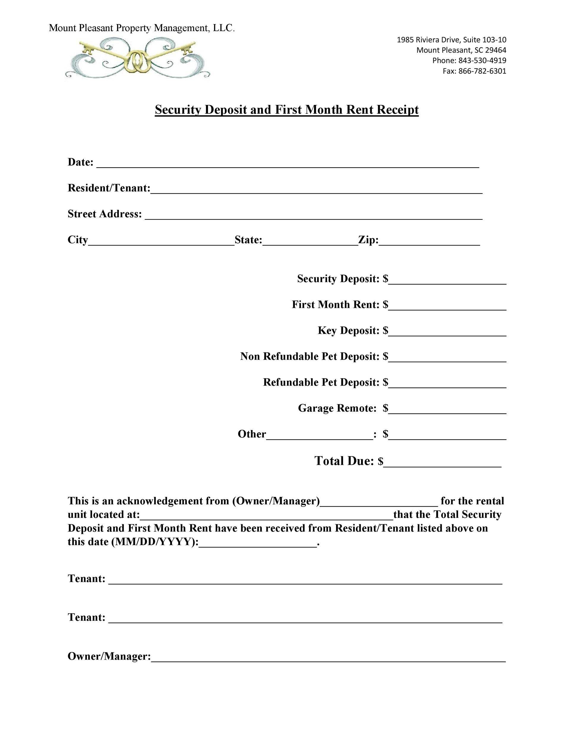Free rent receipt 28