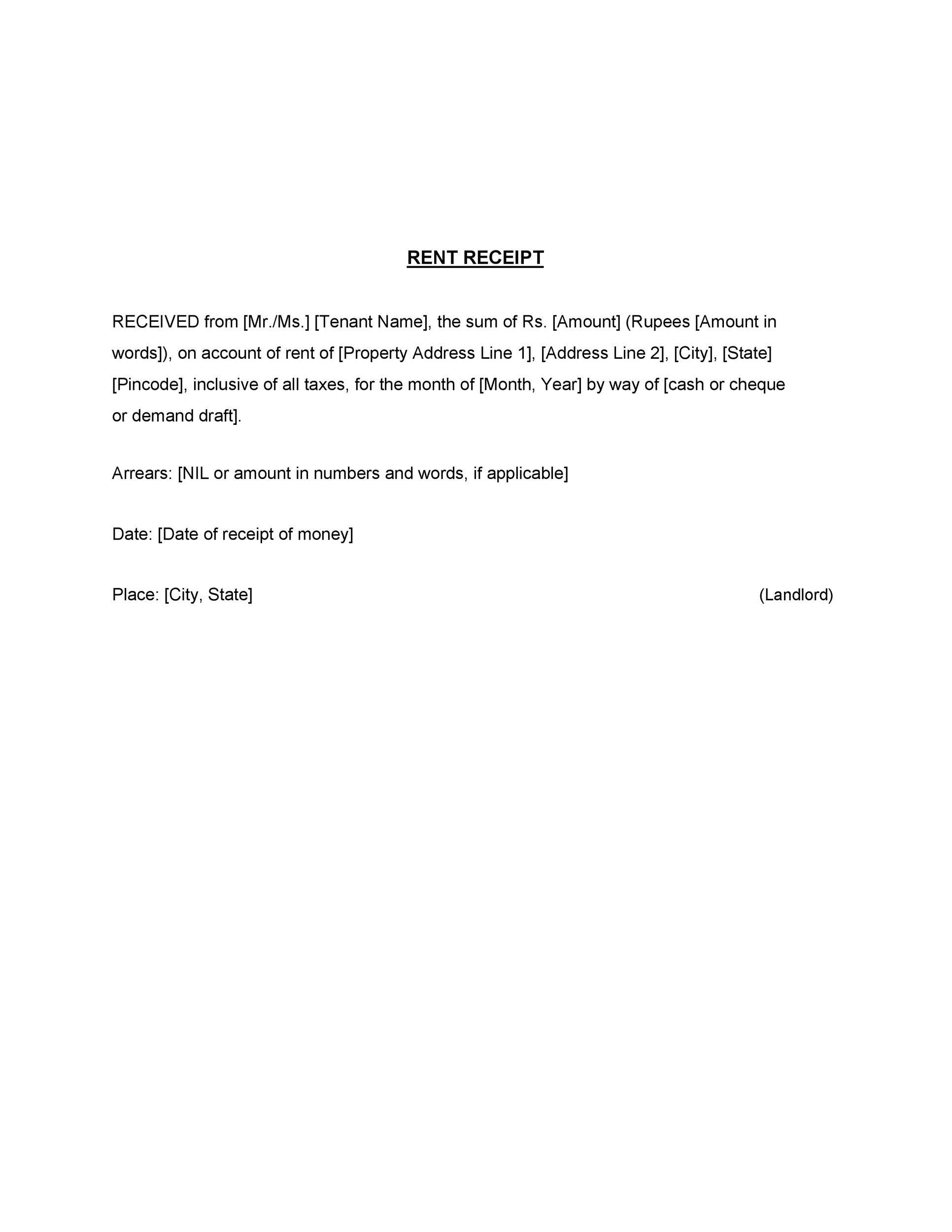 49 printable rent receipts  free templates   u1405 templatelab